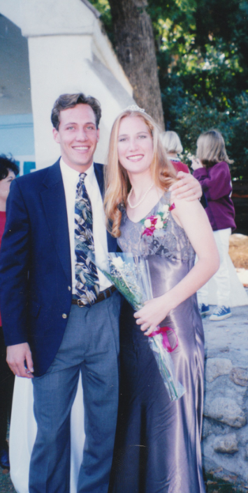 Peter flew down from college to escort me in one of the Homecoming court ceremonies my Senior year.