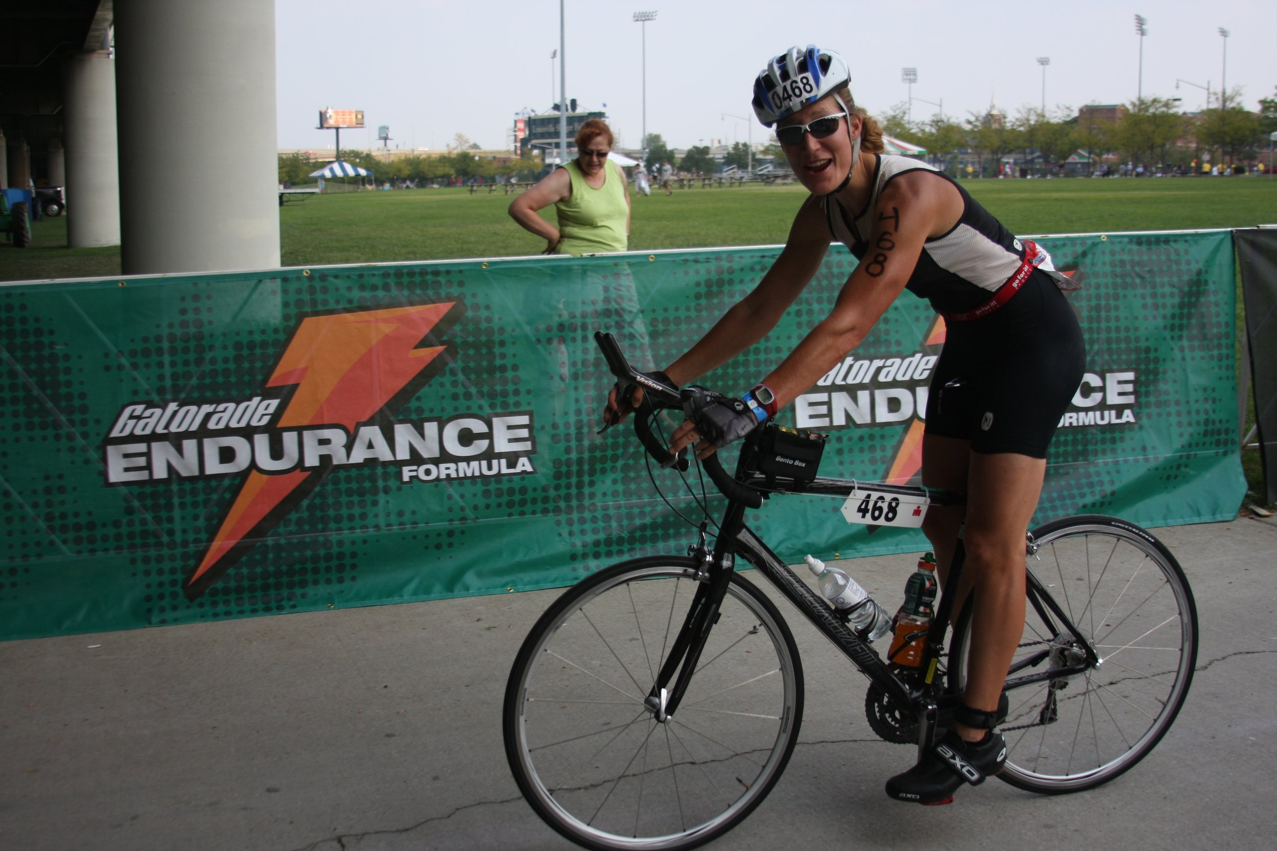 Bike-In from Ironman, Louisville, 2008. Excellent helmet placement.