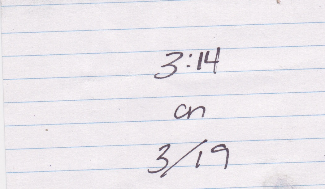 I wrote this down on an index card about 10 days before the race.