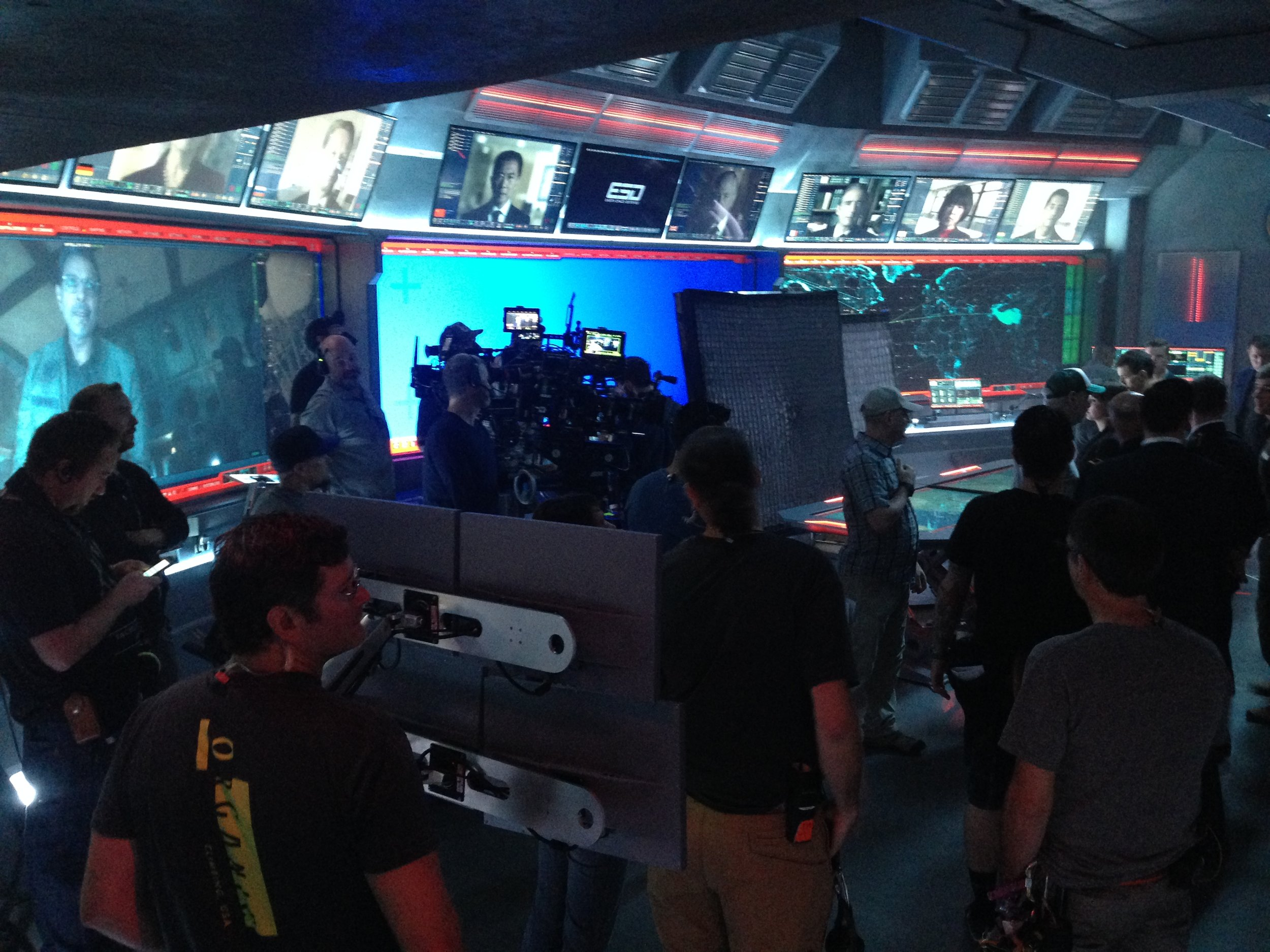 On the set of Independence Day Resurgence.