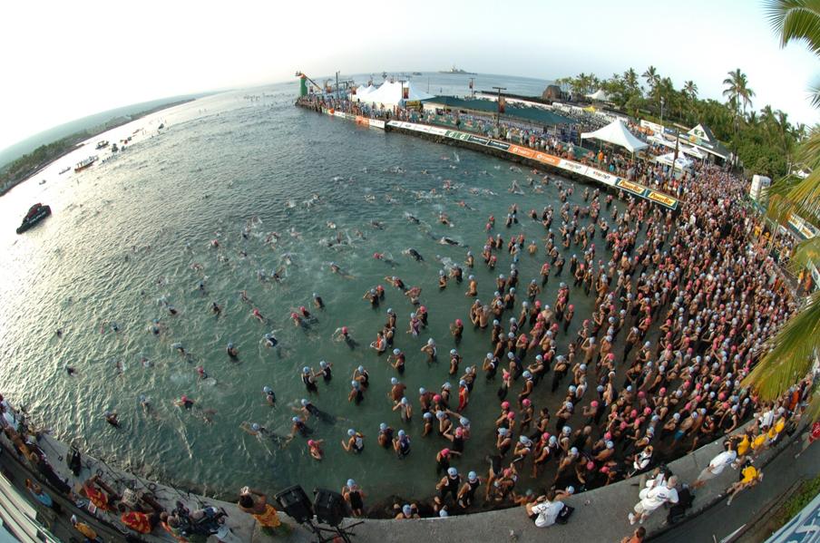 Ironman World Championship Swim Start. Kona, HI.