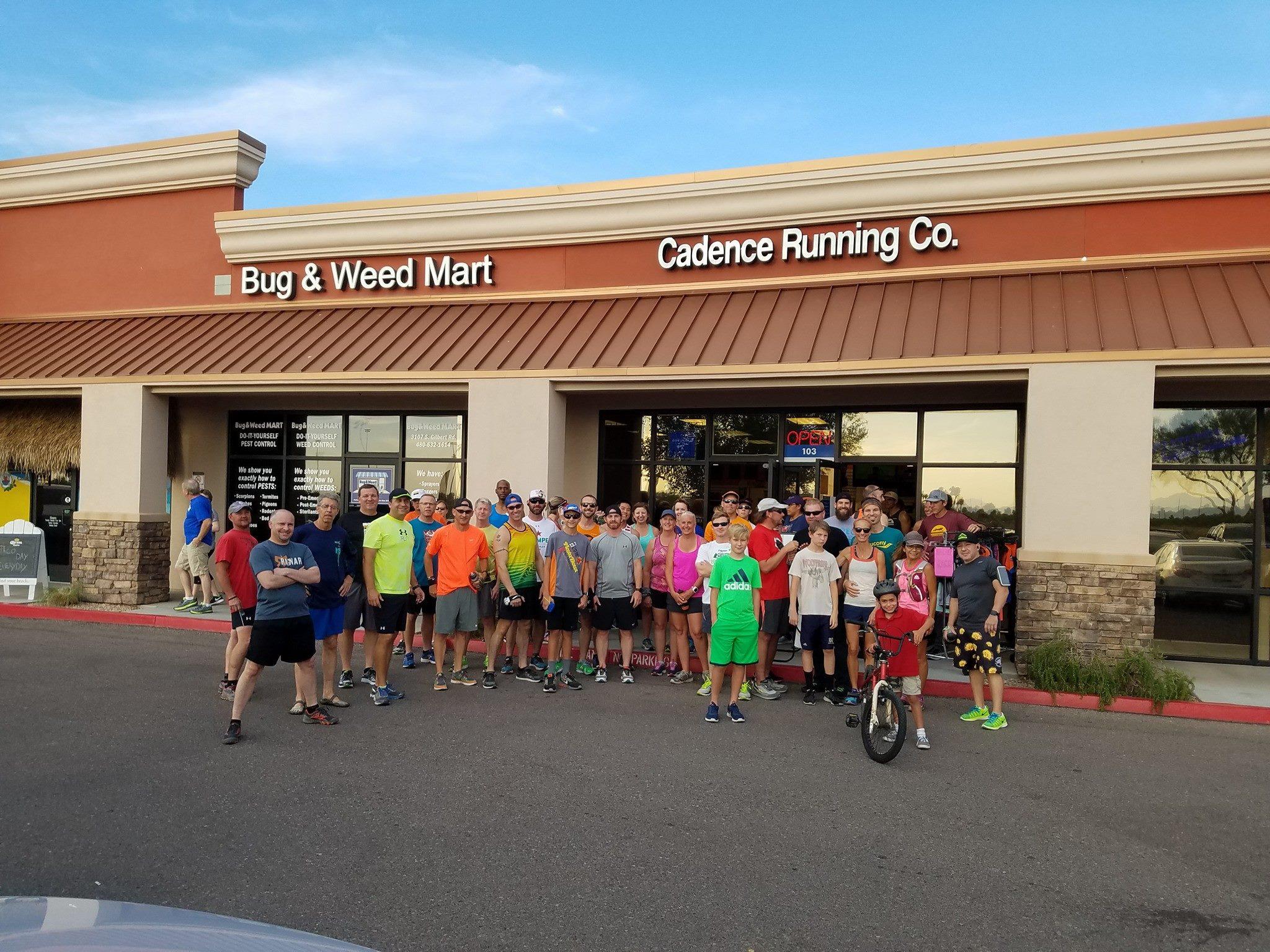 A group run at Cadence Running Company