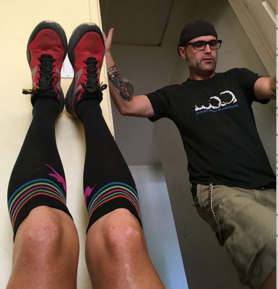 The needful legs-up lactic acid drain exercise I have done after nearly every run since 1993.