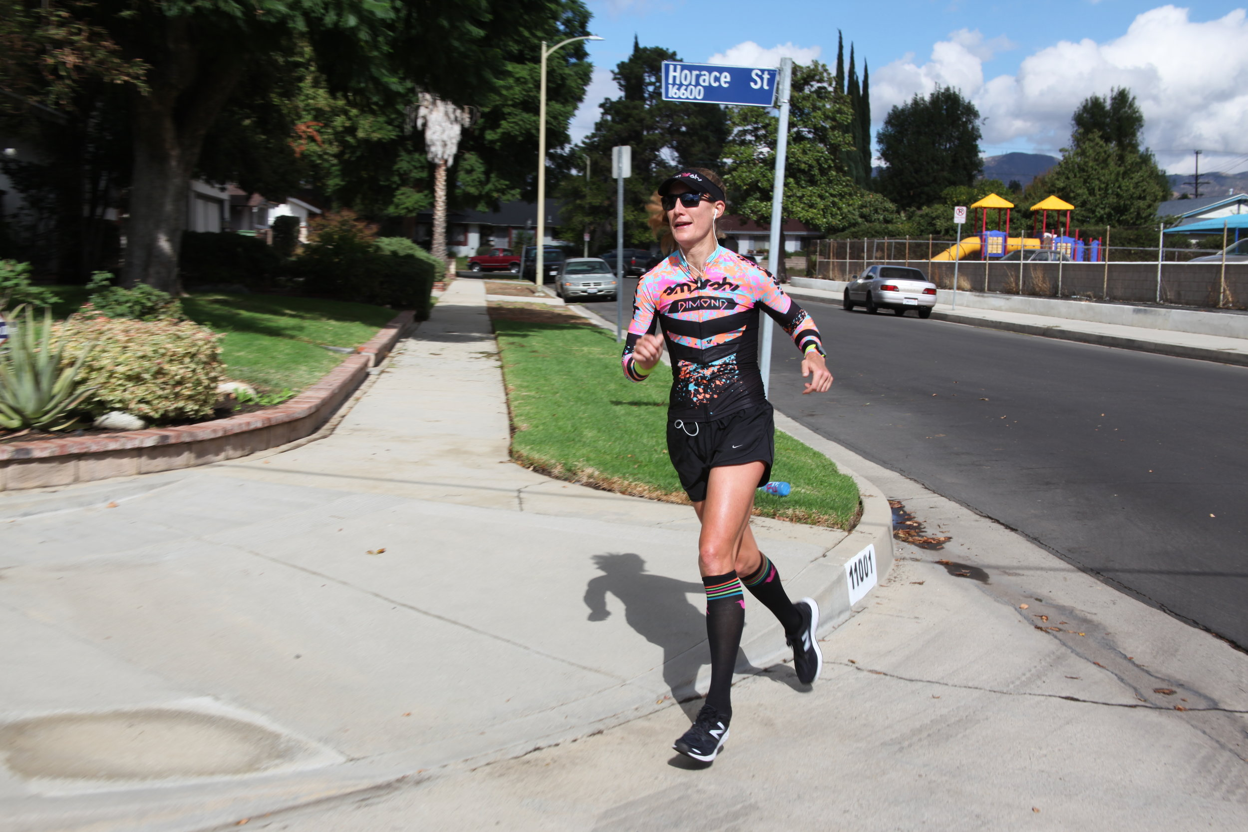 """Rounding the corner and enjoying the last mile """"hand's free"""" after a quick bottle toss."""