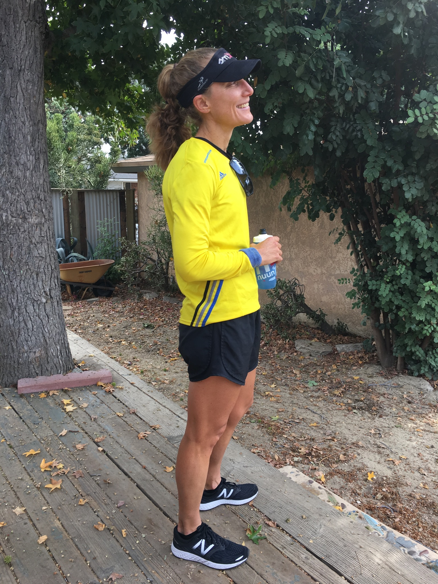 Happy, contemplative moment after my long run on Sunday.