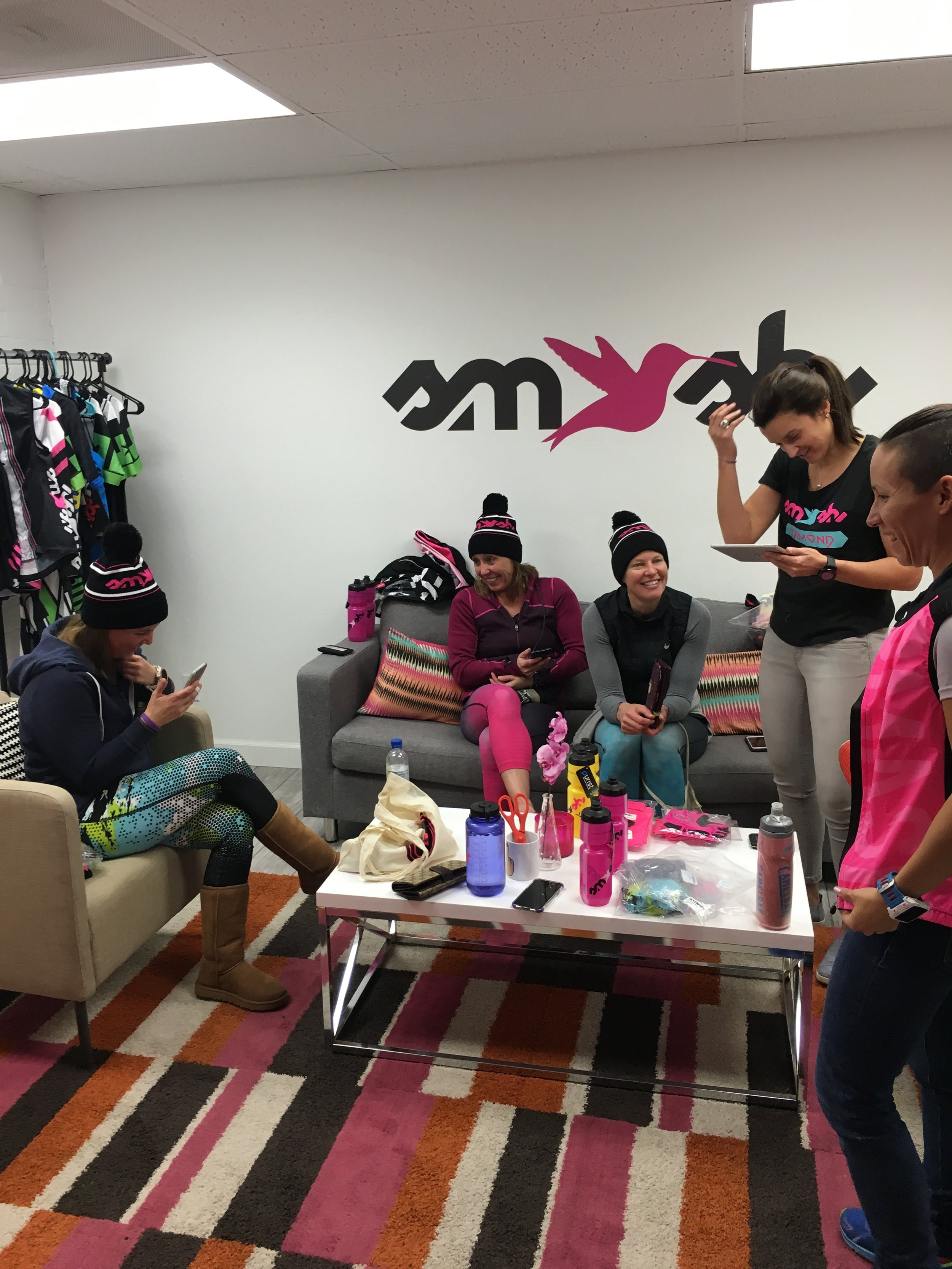 My teammates Jan, Amy, Mary, Lauren, and Rosario soaking up the amazingness at Smashfest Queen HQ.