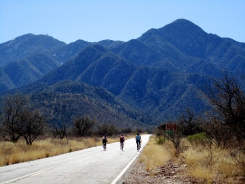 The deceivingly difficult road up to Madera Canyon.