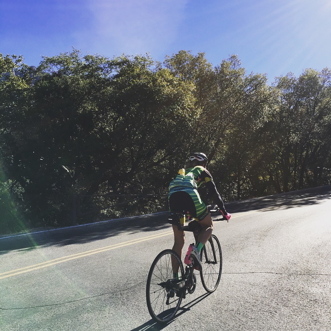 Slowly eking up the last part of the Madera climb. Photo credit: Hillary Biscay.
