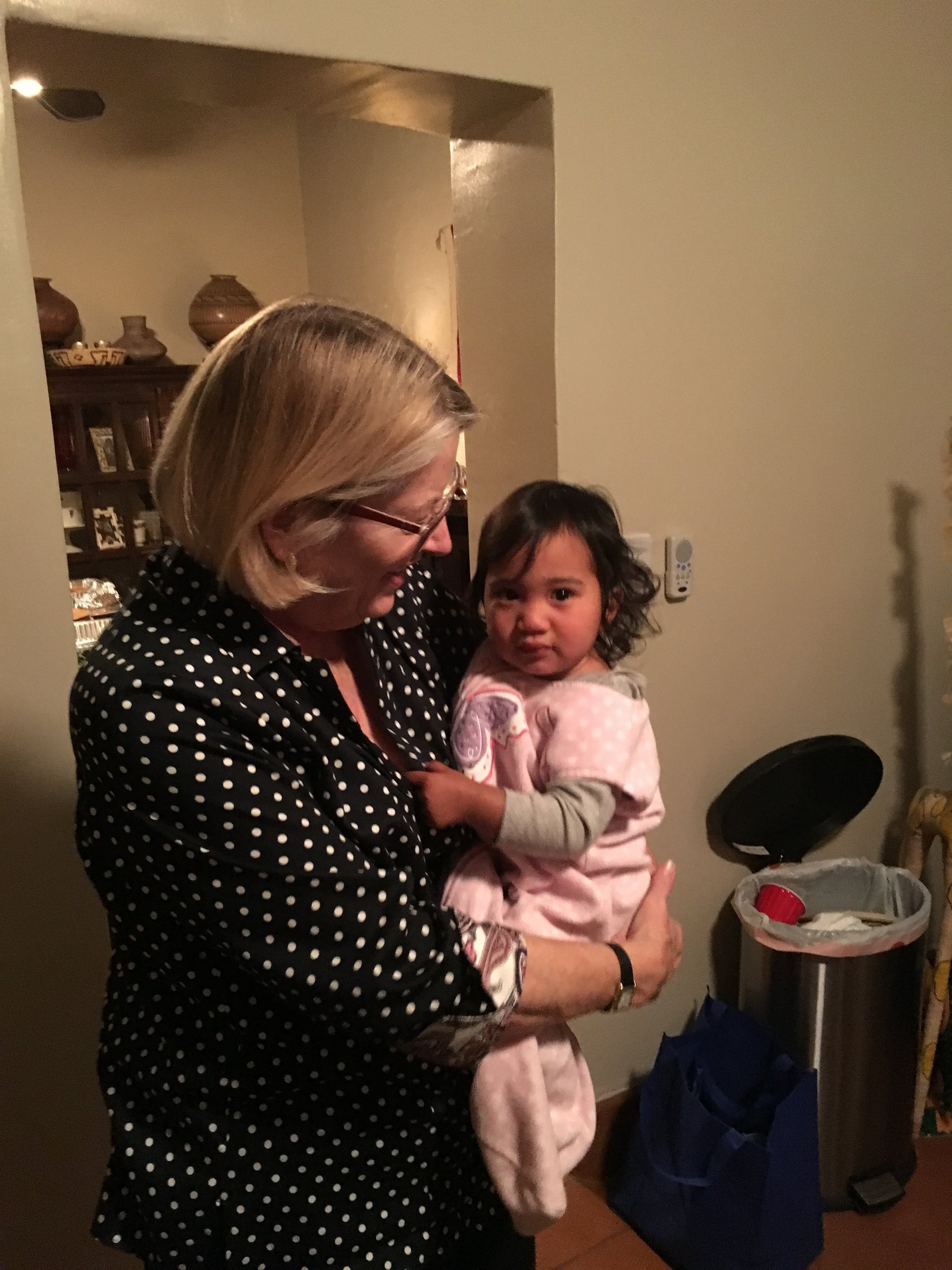Hillary's wonderful mother, Brooke, and adorable daughter, Madison.