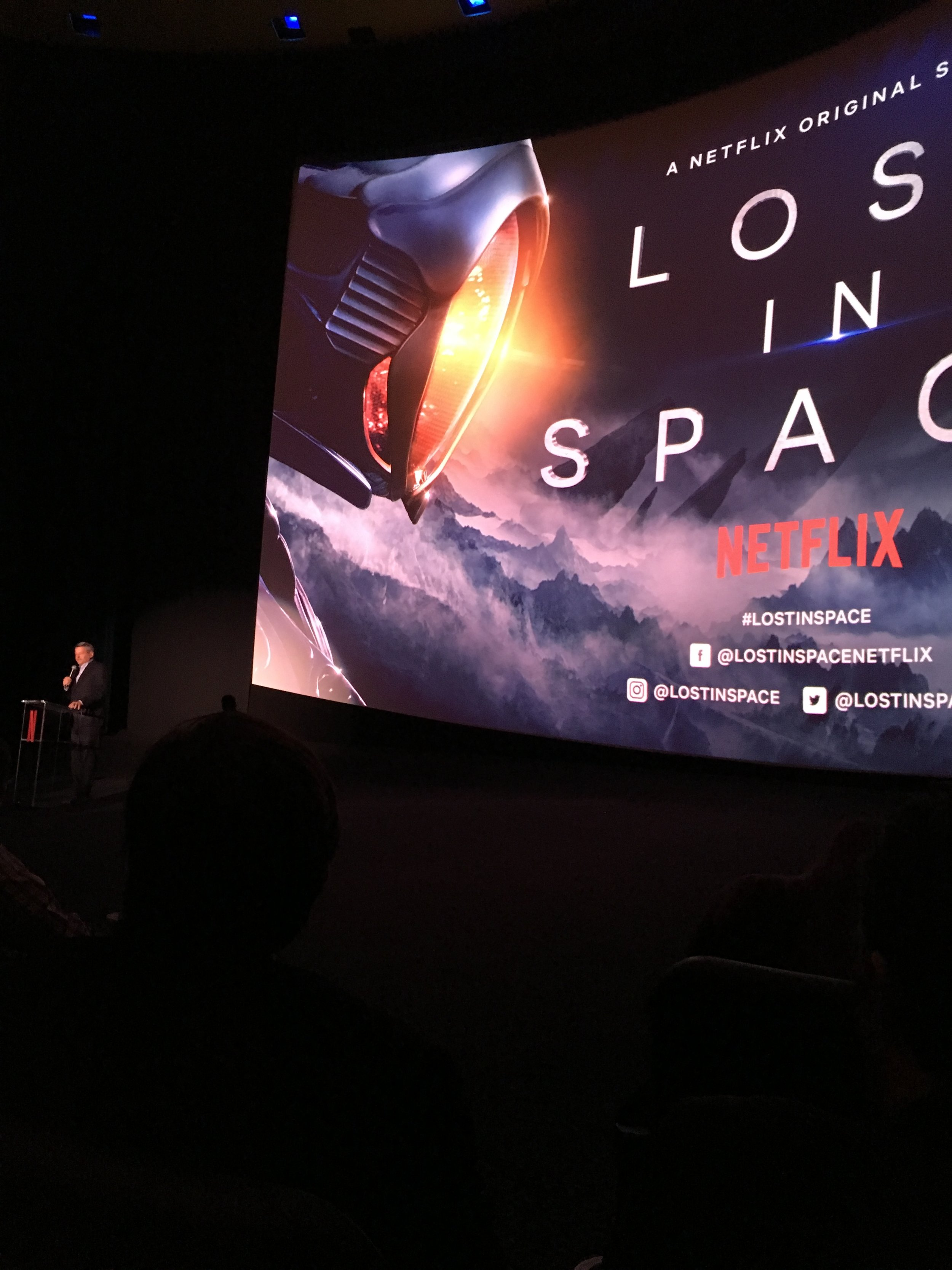 Ted Sarandos, the chief content officer at Netflix introducing the show.