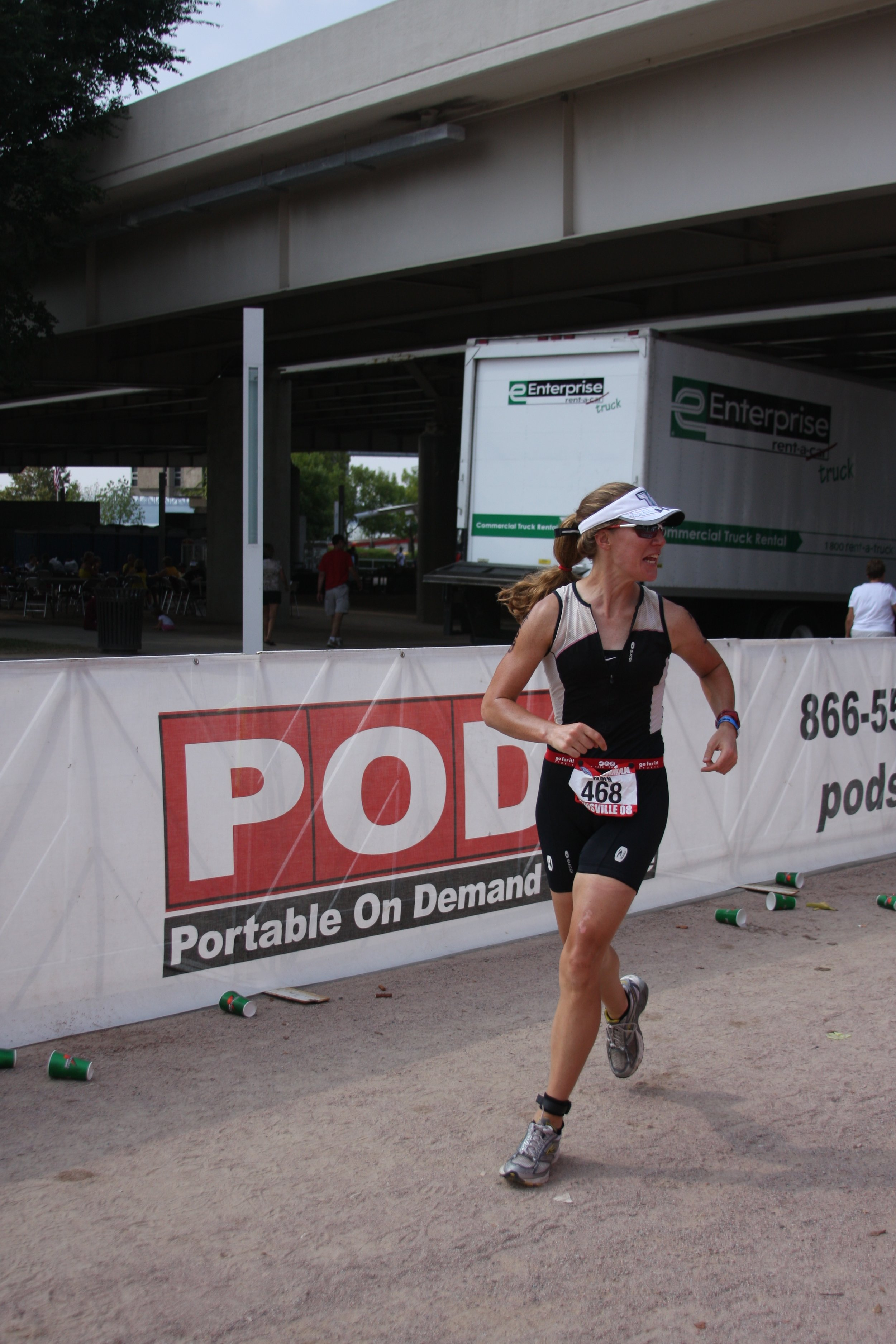Heading out for my first Ironman marathon, ten years ago at Ironman Louisville, 2008.