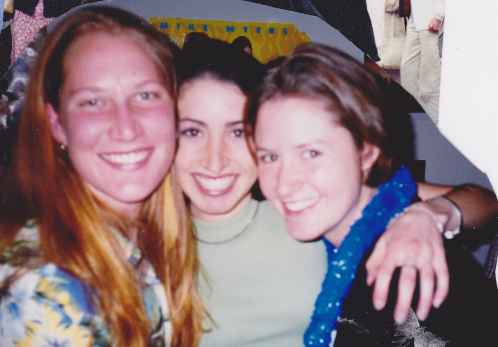 The two best women I know, and my best friends forever, (screen left to right),Hadara and Emily circa 1999.