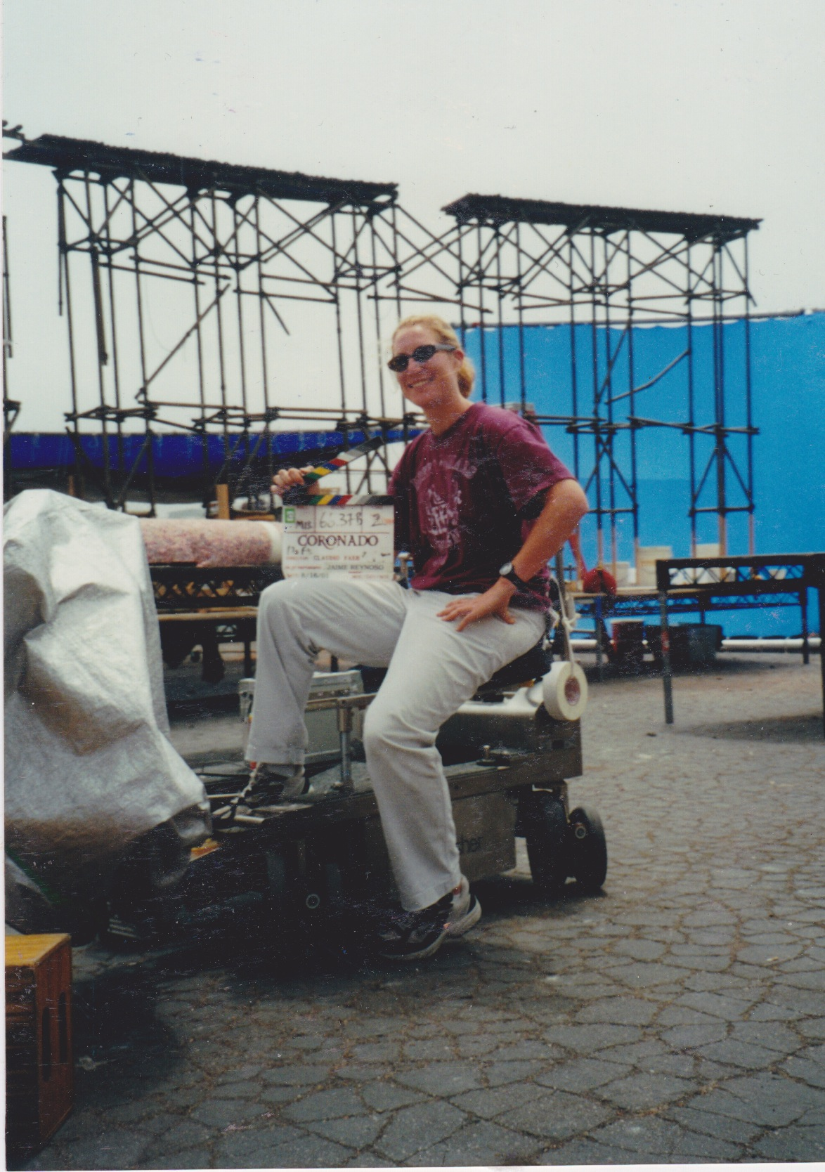 On the set of my first job in the biz, 8/2001, the visual effects miniature shoot for the film,  Coronado .