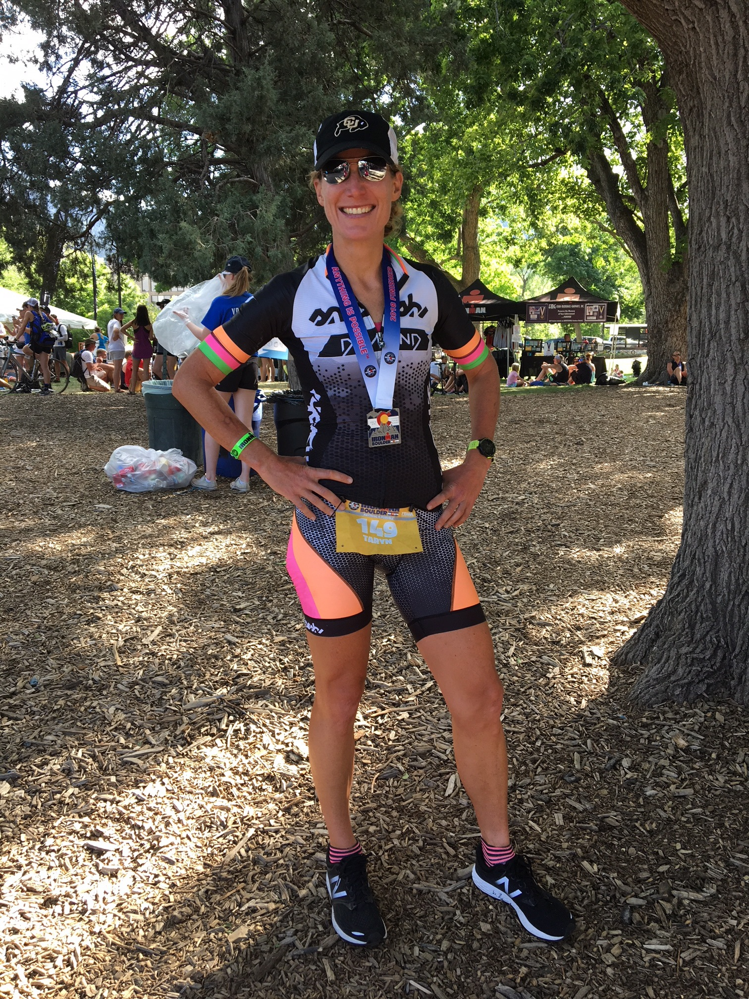 Classic hands-on-hips post race photo.