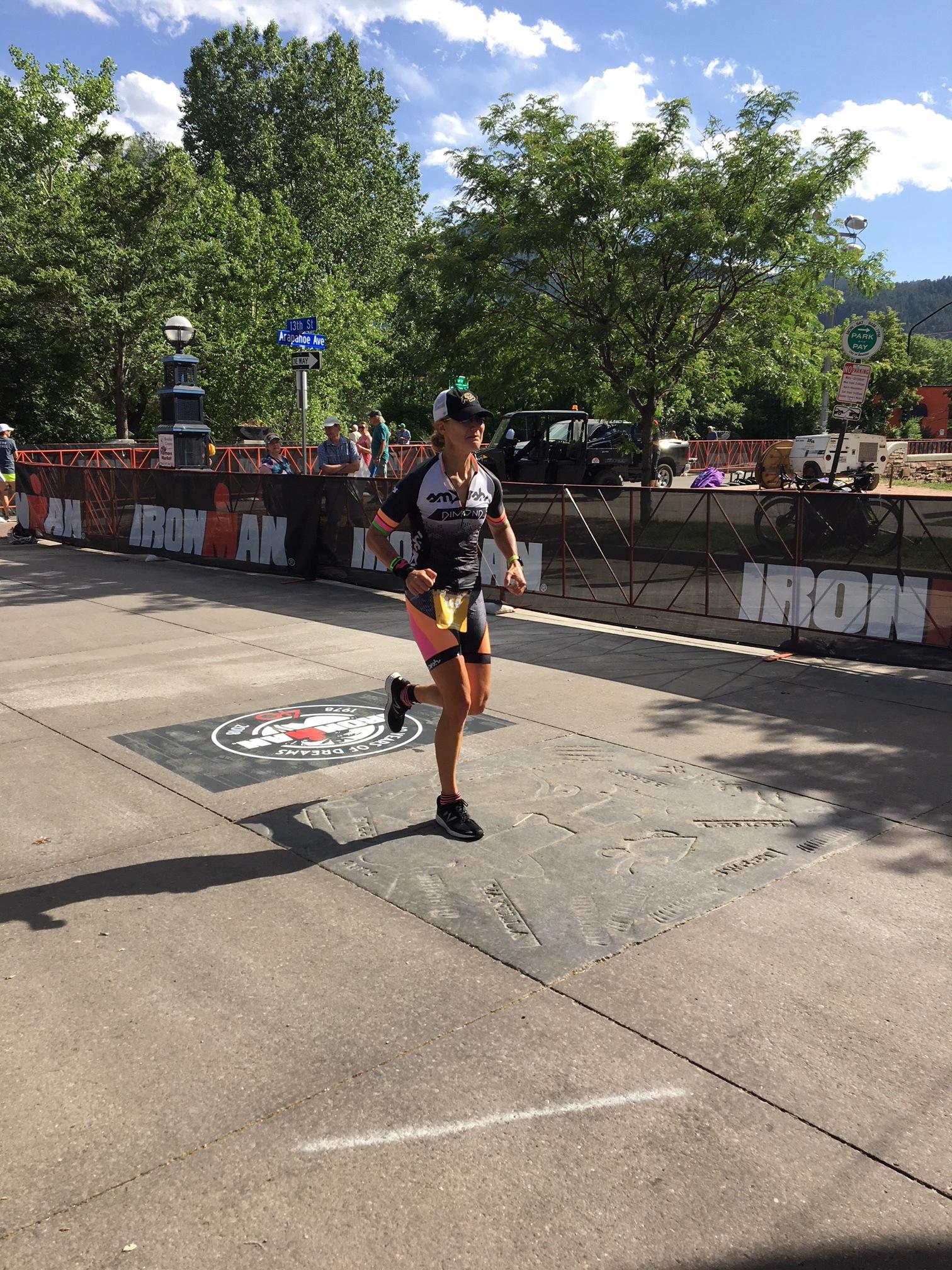 Feeling emotional at the finish.
