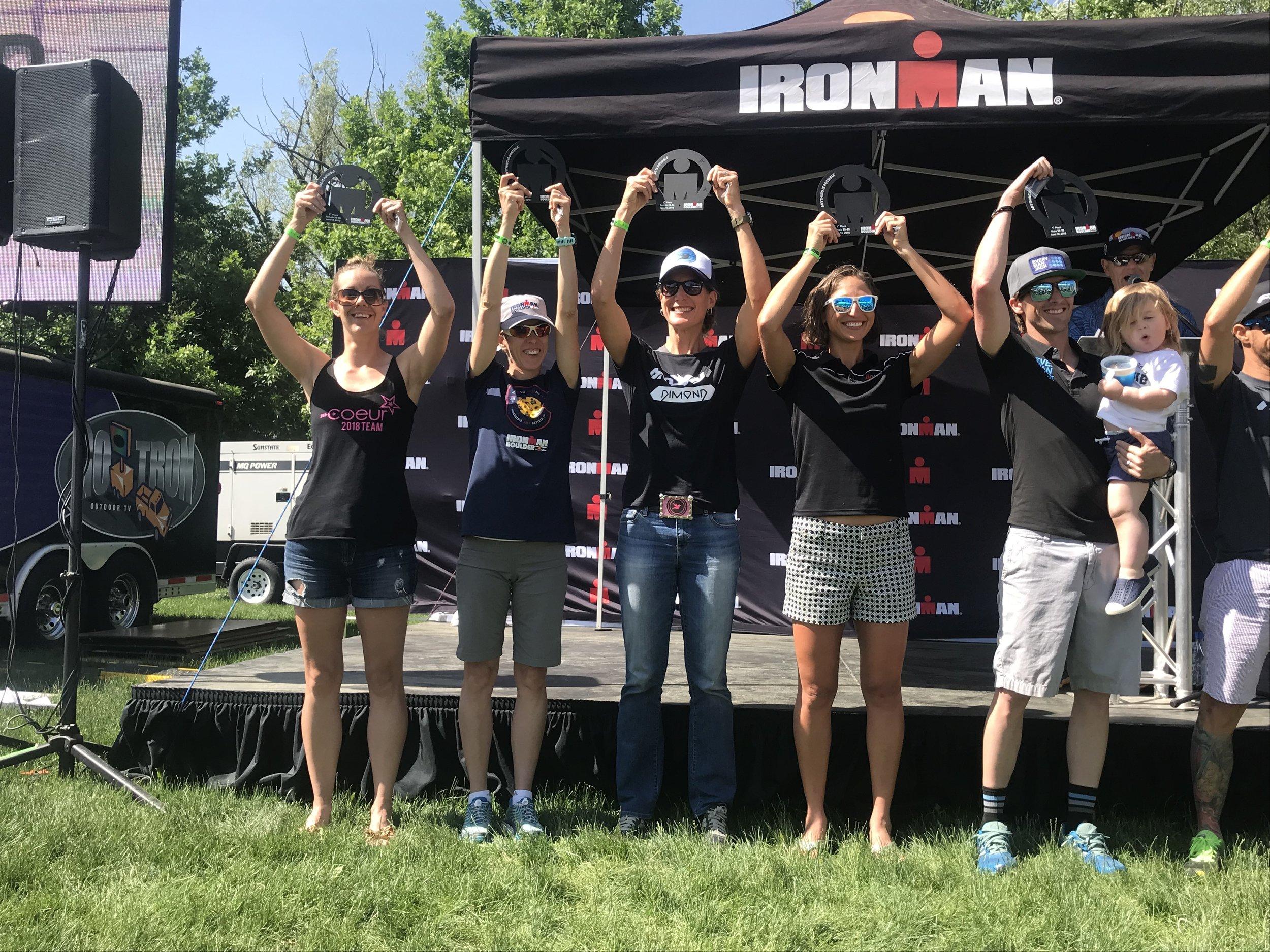 Women's 35 - 39 Age Group podium. I placed 2nd.:) Photo courtesy of Amy Hite.