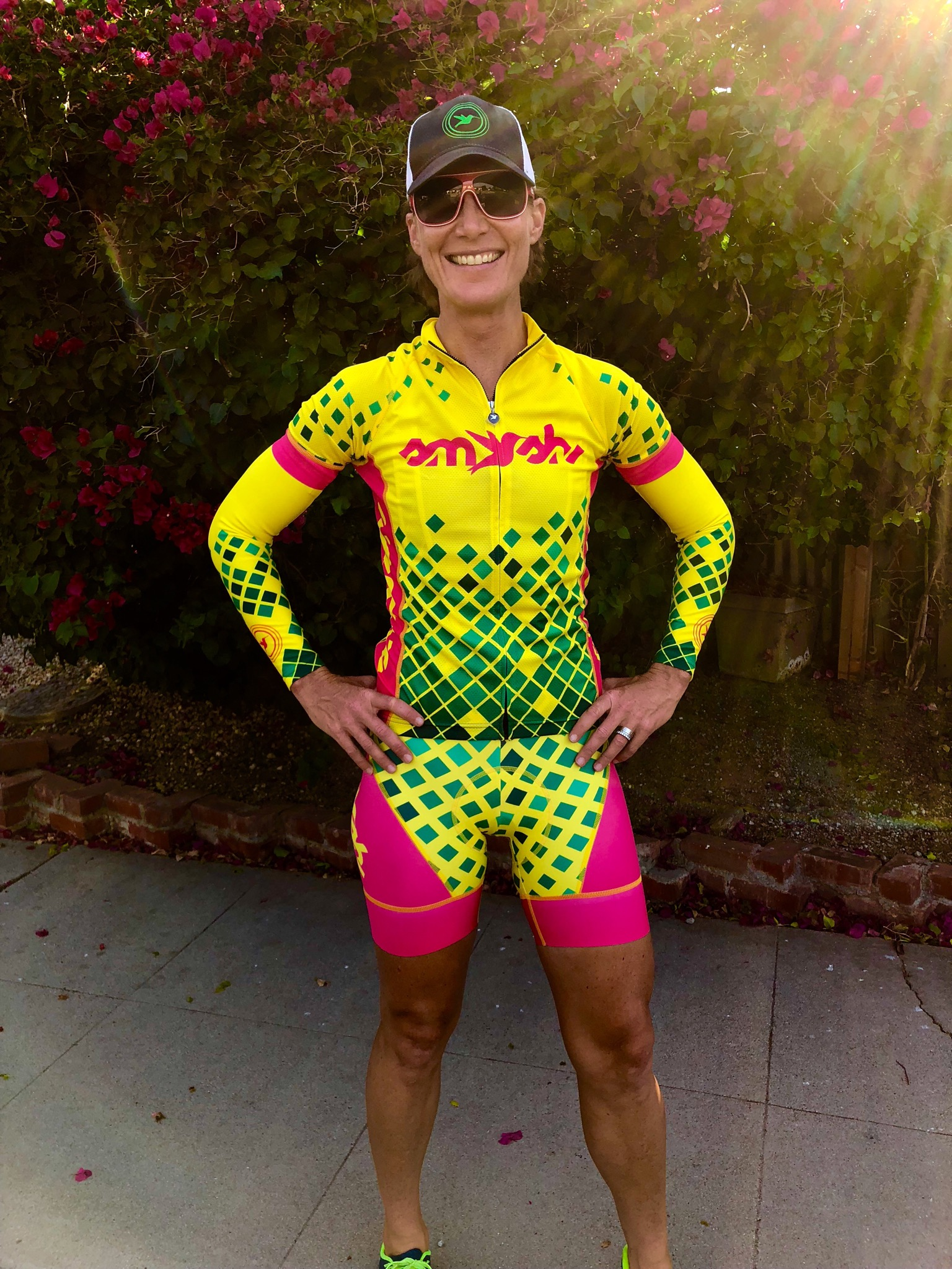Yours truly rocking my new  Smashfest Queen HC 18 cycling kit .