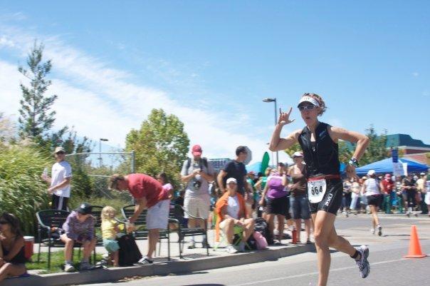 Starting the marathon at Vineman, 2009.
