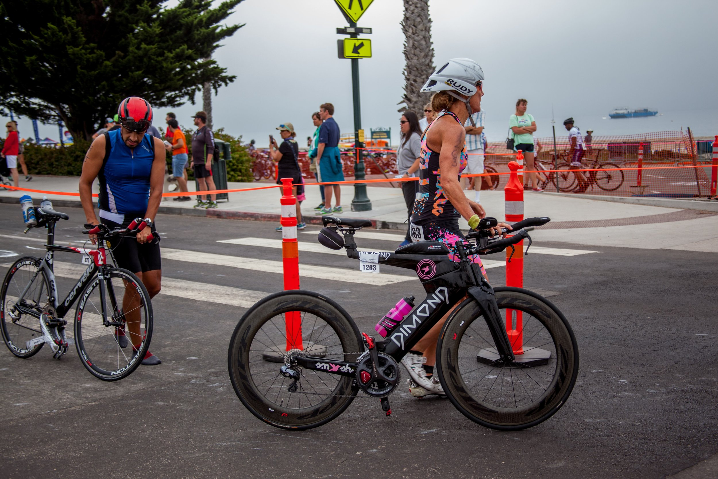 Simone in all her glory after carrying me to a fast bike split at the Santa Barbara Triathlon, 2017.