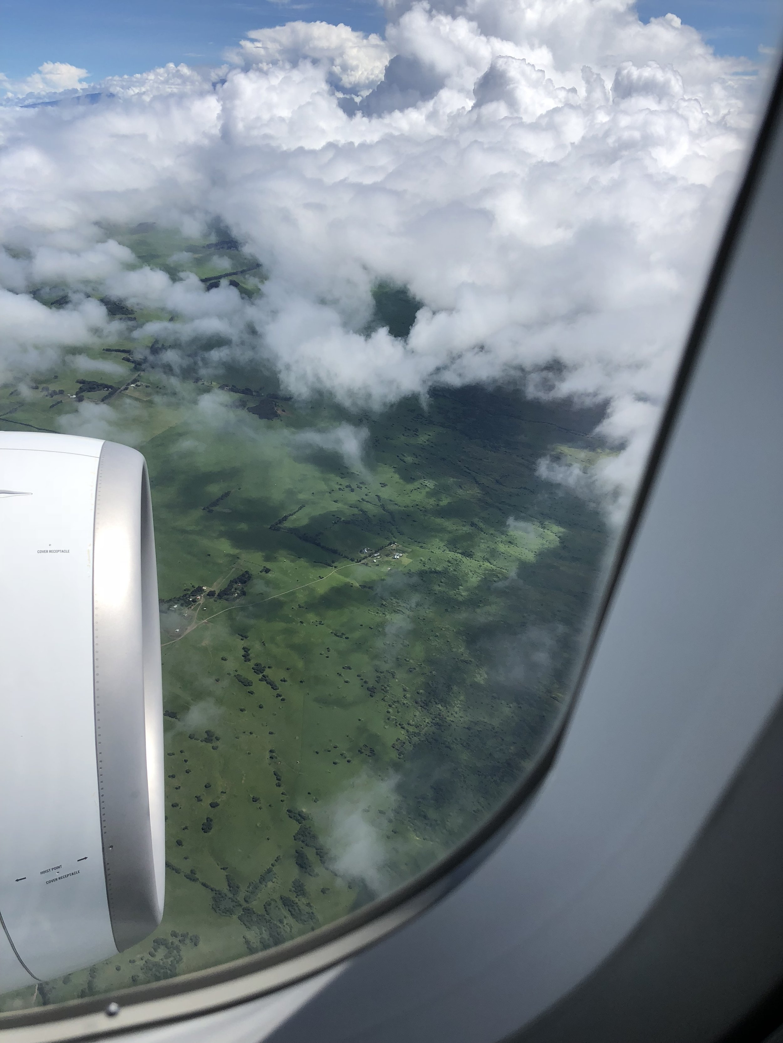 My first view of The Big Island.