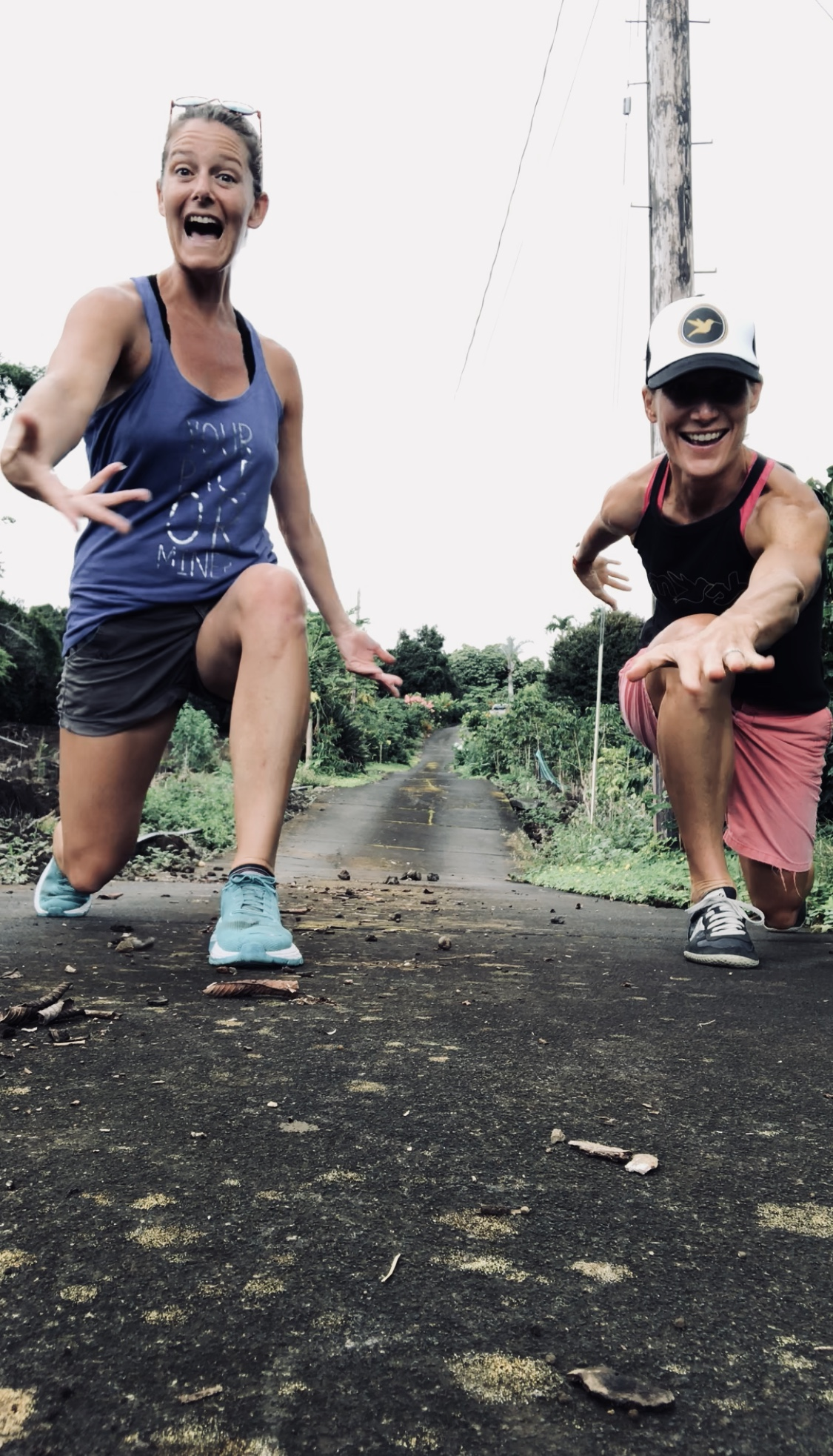 My sister Sarah and I performing an impromptu dance number on Thursday afternoon on the coffee farm.