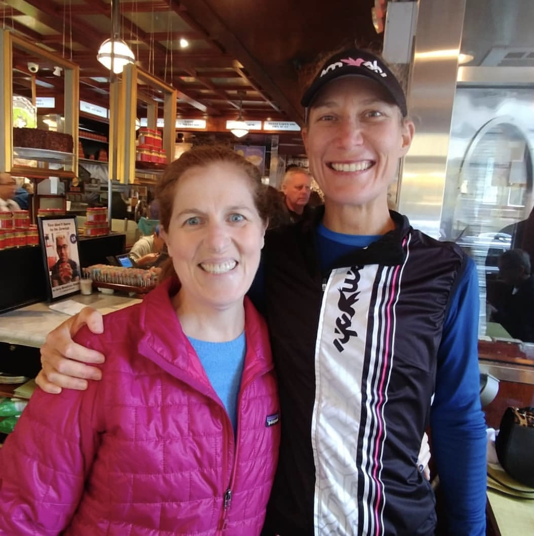 My friend and teammate Mandy and I inside a NYC diner.