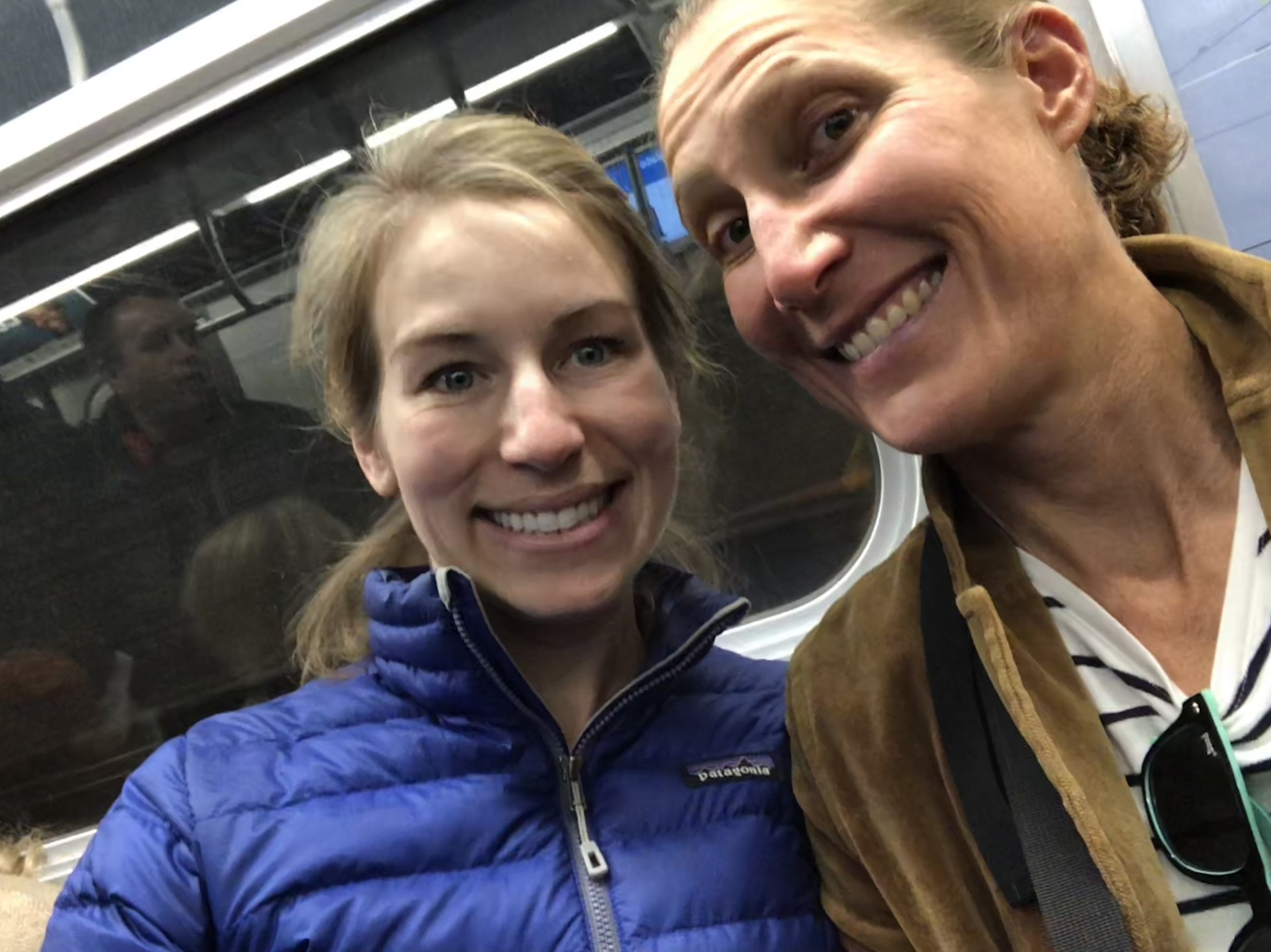 Subway ride to Brooklyn with one of my favorite Fabik sisters from Colorado, my friend Annie.