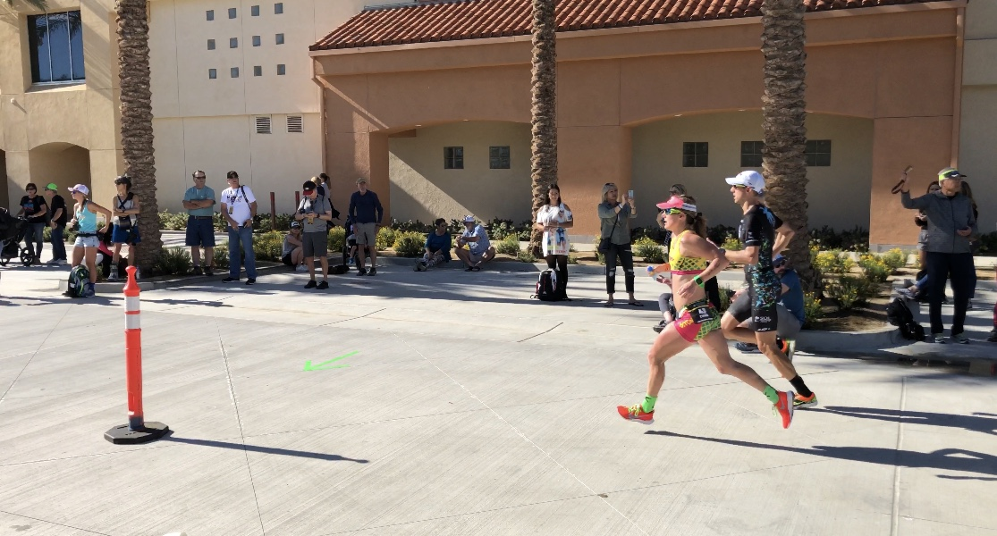 The super swift Smashfest Queen sponsored pro triathlete, Haley Chura, on her way to a 2nd place finish.