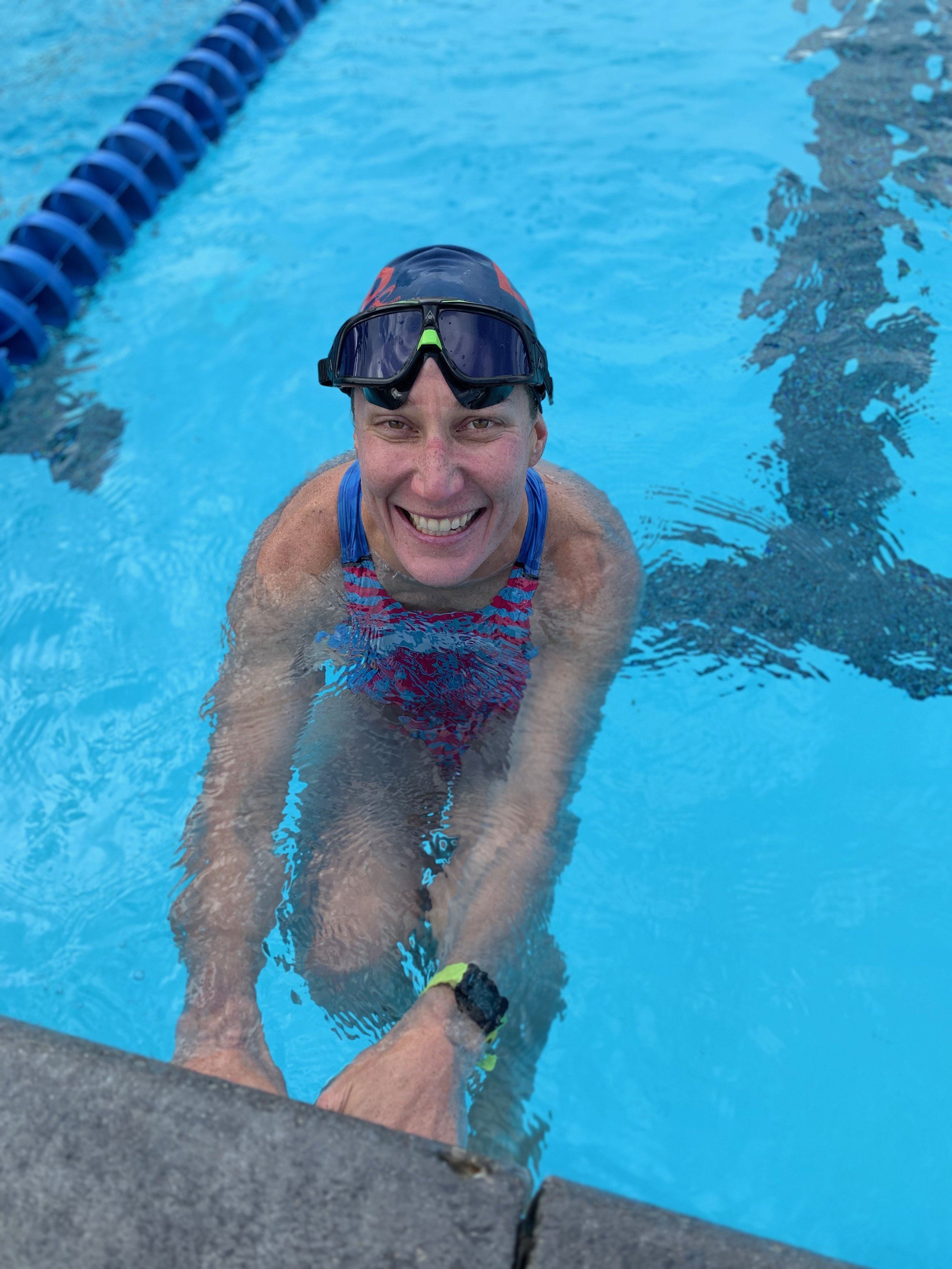 In the midst of swimming my heart out, 12/31/2018. Photo courtesy of Erika Lilley.