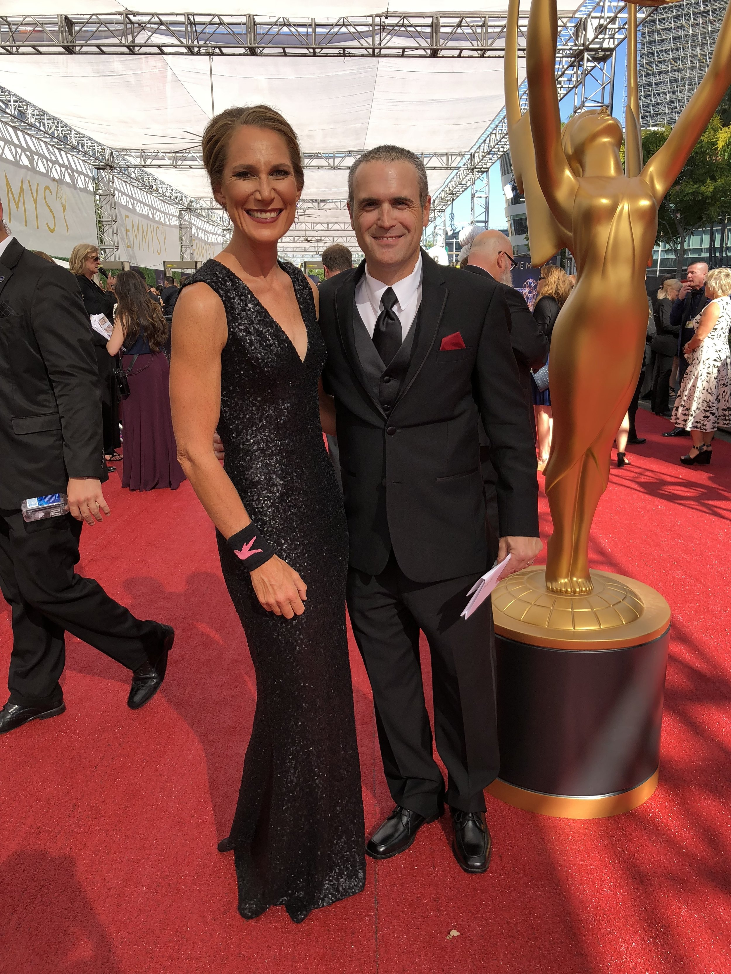 Black-tie date night at the Emmy's in September.