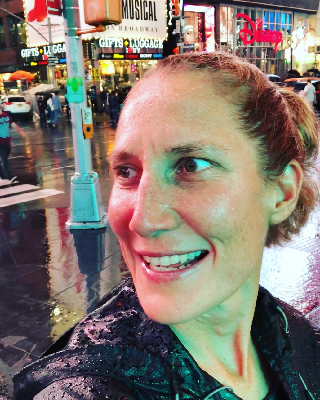 Rainy walk in Times Square, November, 2018.