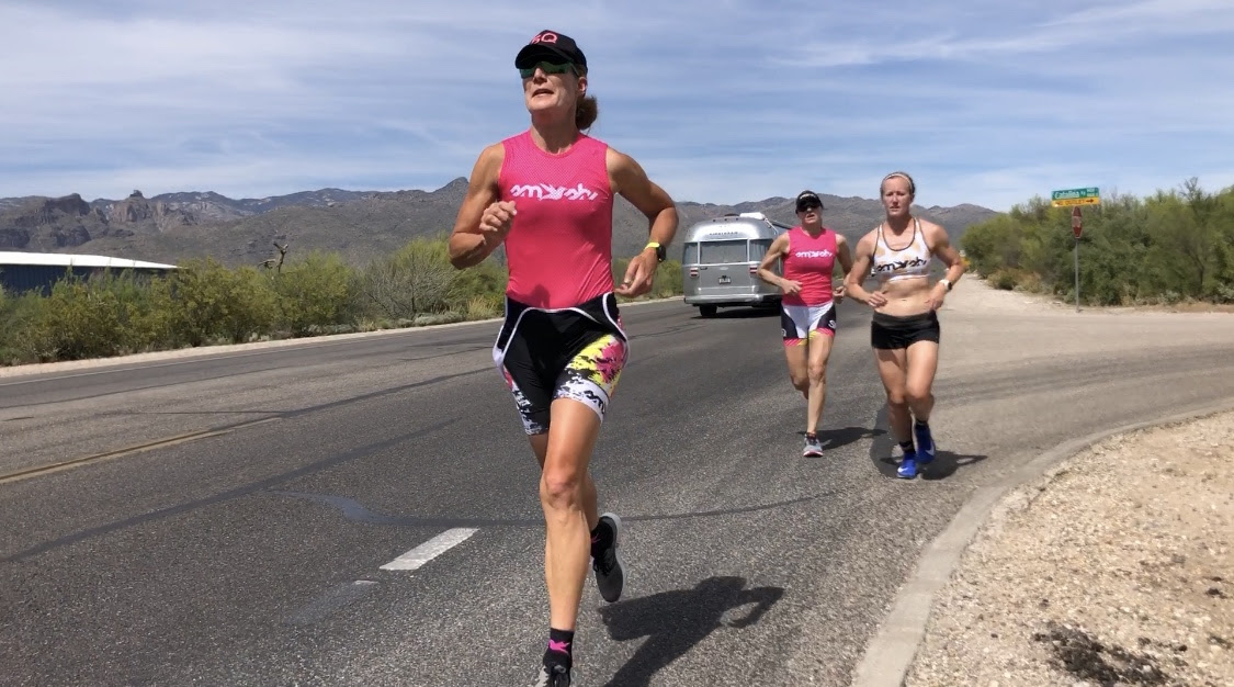 Last mile of the 4-mile Mt. Lemmon transition run. Photo courtesy of Hillary Biscay.