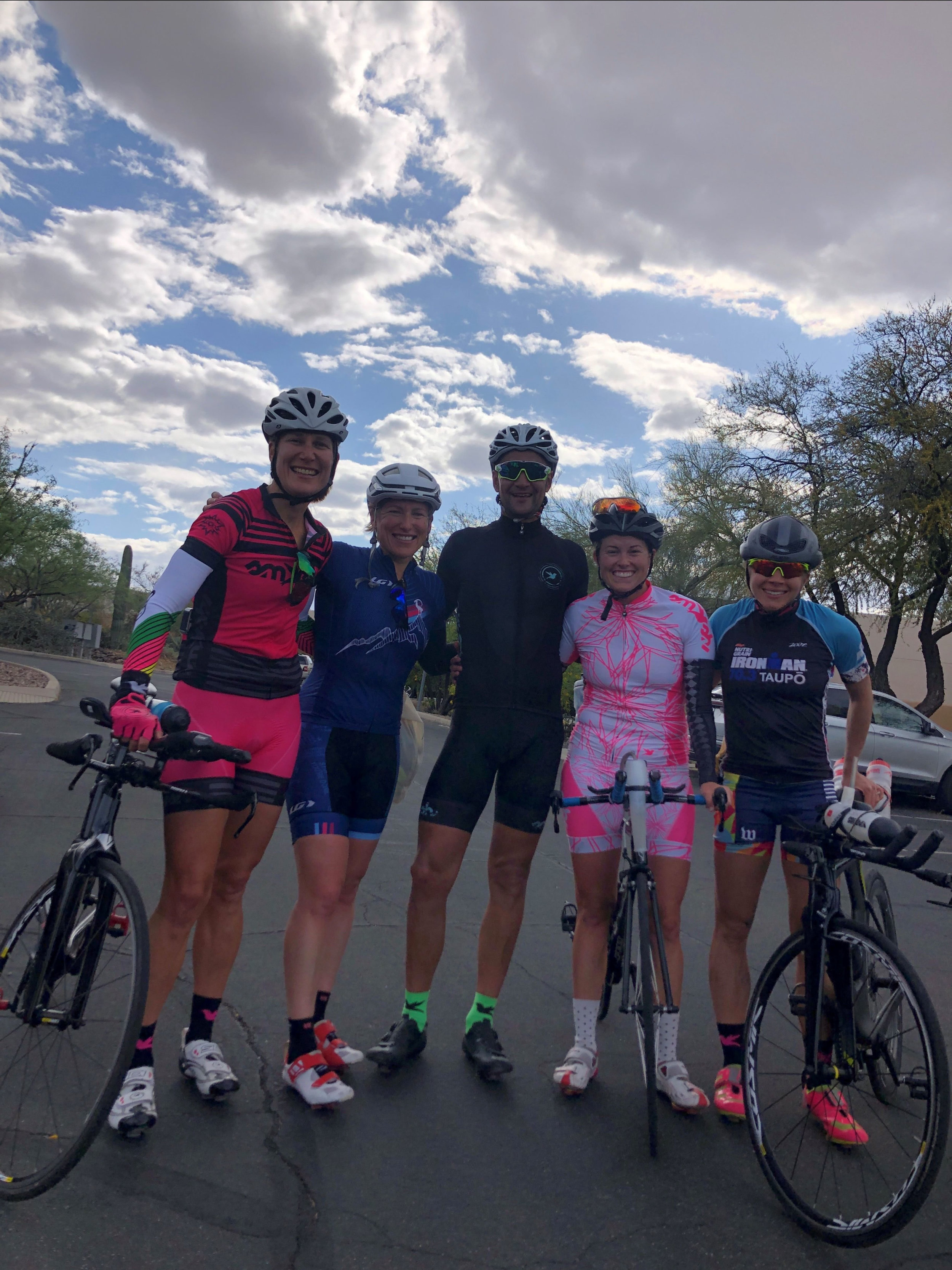 From left, Moi, Holly, Maik, Jess, and Alysha. Photo courtesy of Hillary Biscay.