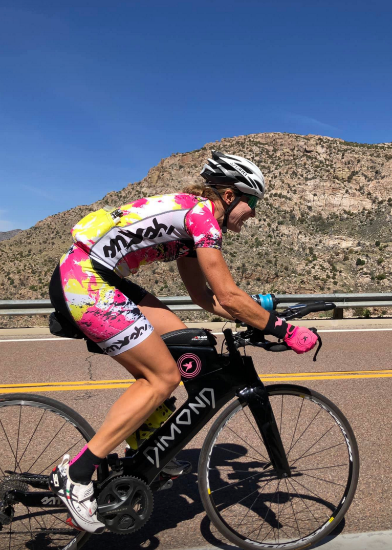 Riding up Mt. Lemmon. Photo courtesy of Hillary Biscay.