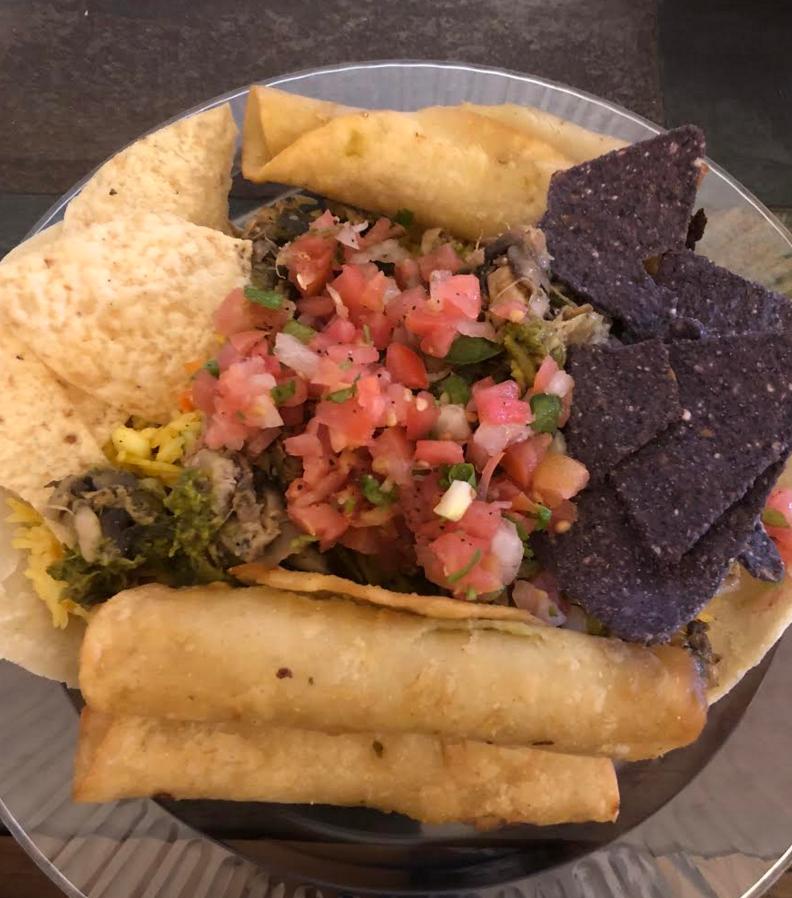 Yummy, vegan Mexican food.