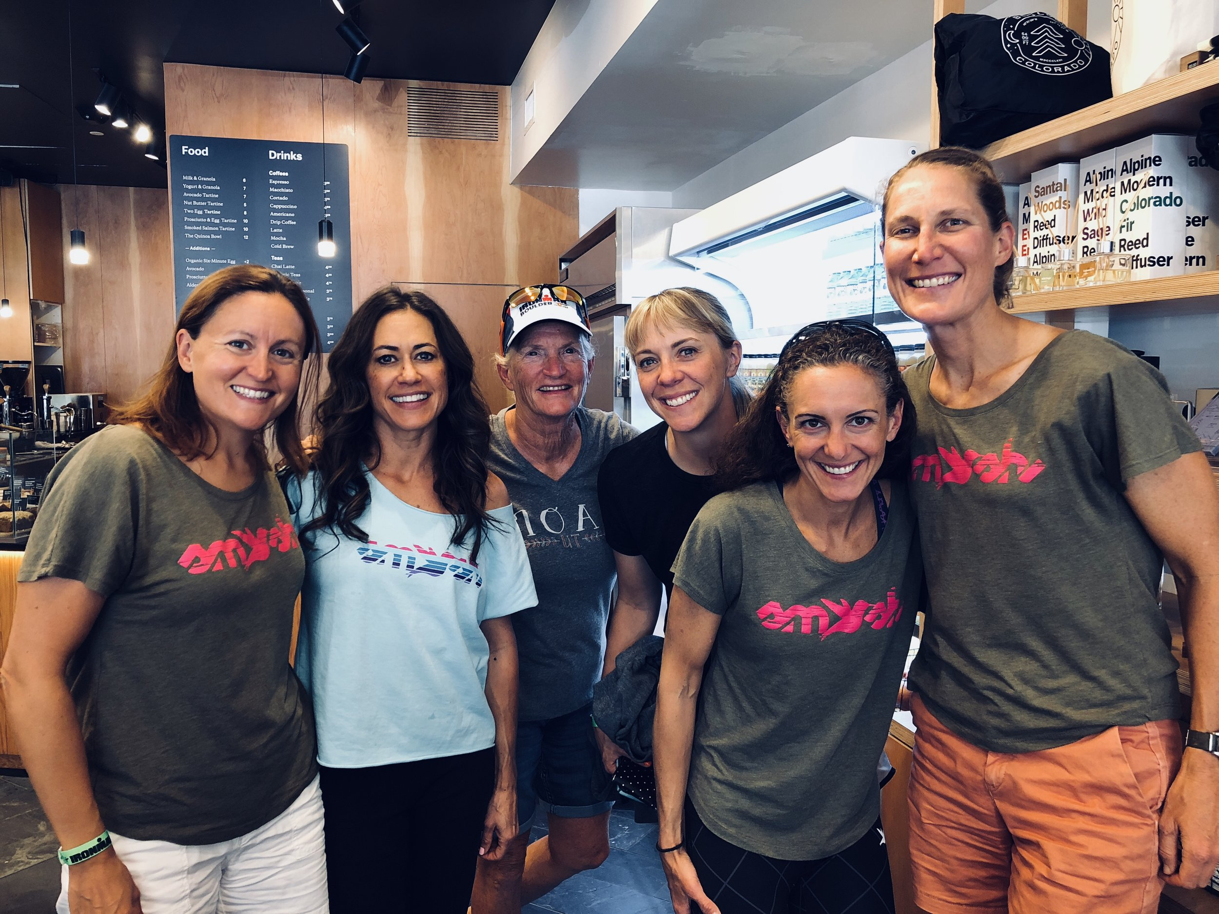 My amazing TeamSFQ teammates, from left: Sarah Peltier, Cortney Haile, Pam Batungbacal, Ashley Wilkinson, Tracy Alexandra, and a CU Alum.