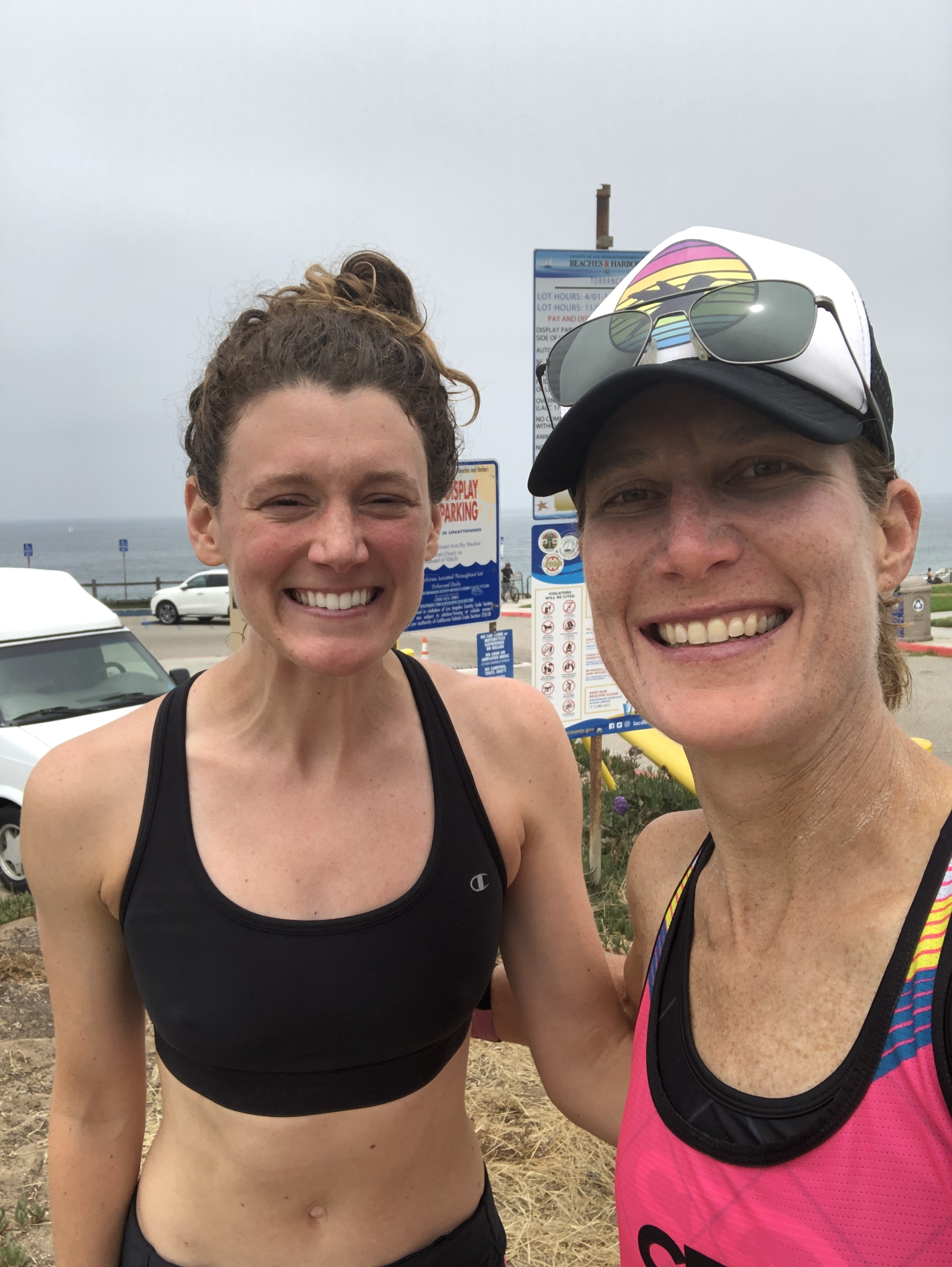 My east coast transplant teammate, Alex Watt and I after our run through Palos Verdes.