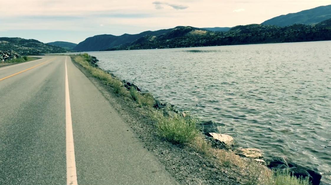 View from my bike of Skaha Lake.
