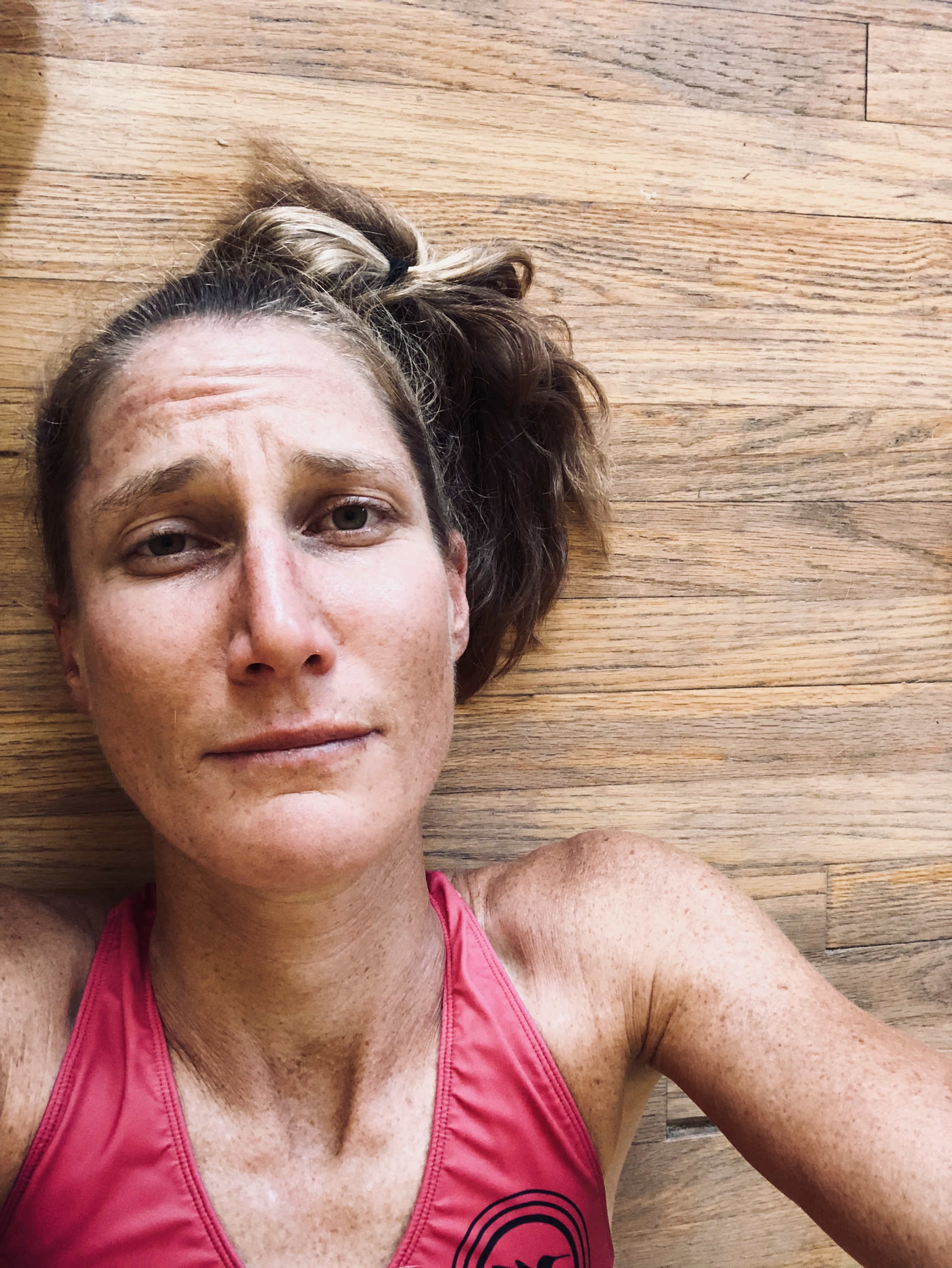 Moments after the worst run of my life, one week before running the NYC marathon, October, 2019.