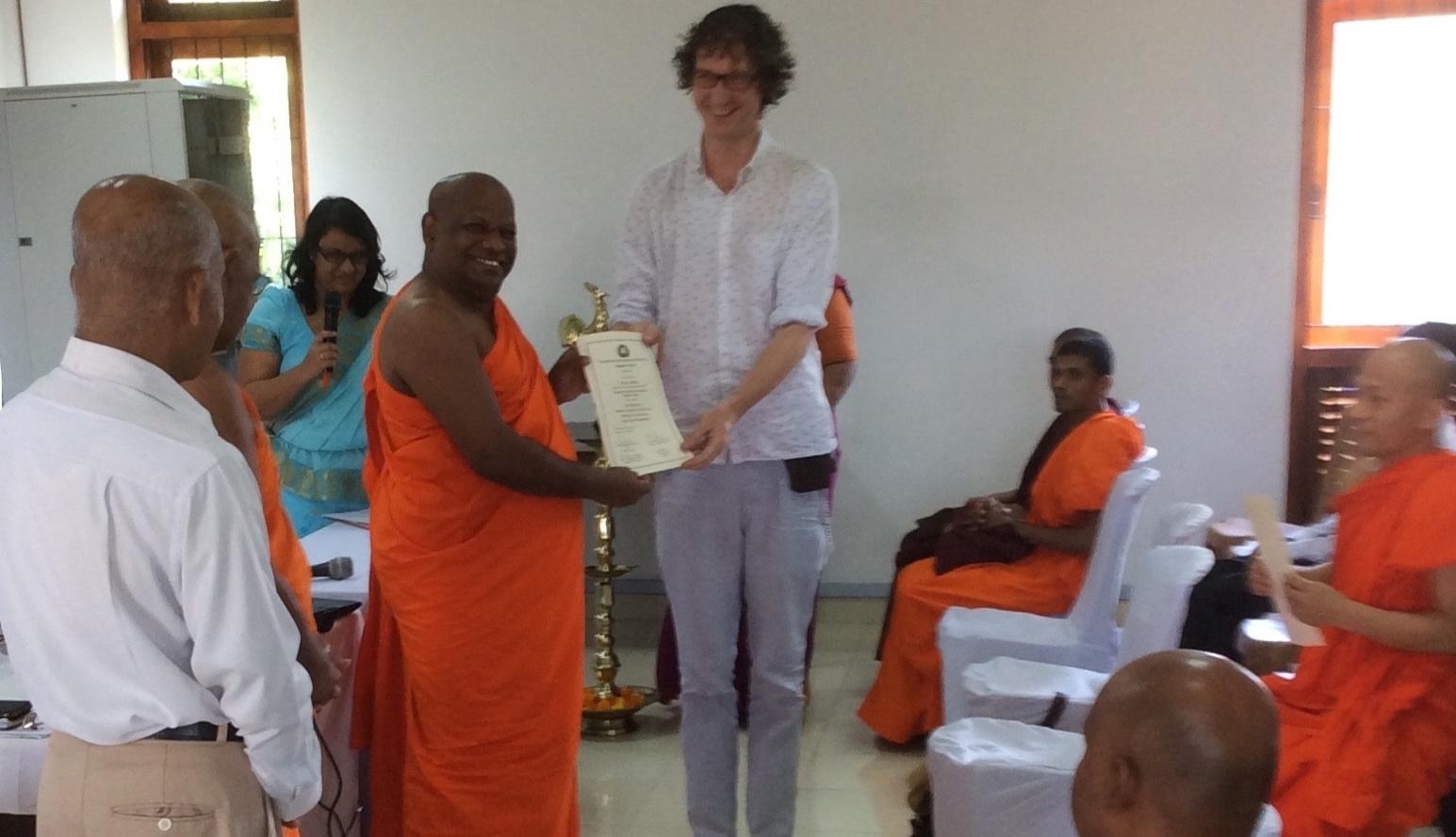 Buddhist Ayurvedic award ceremony in Sri Lanka at the  Nagananda International Institute for Buddhist Studies (NIIBS)