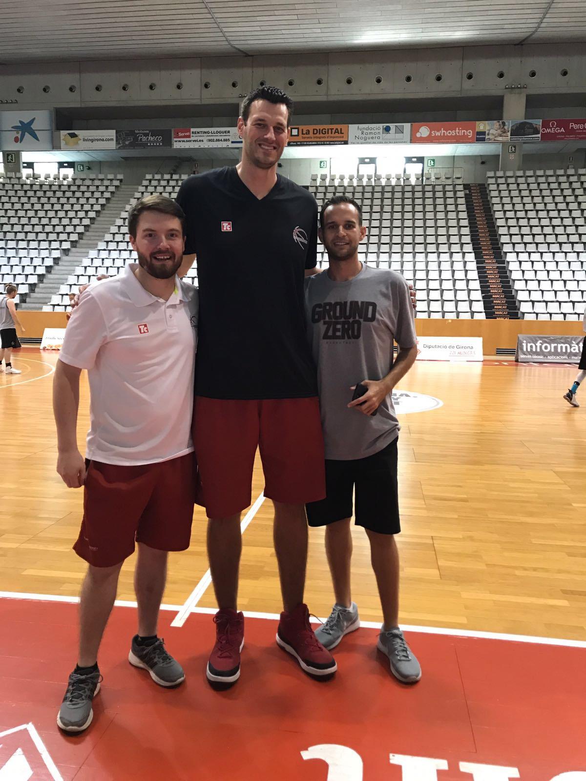 GZT's Jason Benadretti with Europrobasket Director Brad Kanis