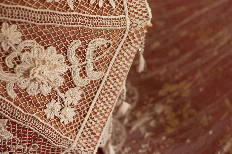 Detail of Modern Irish Crochet Parasol