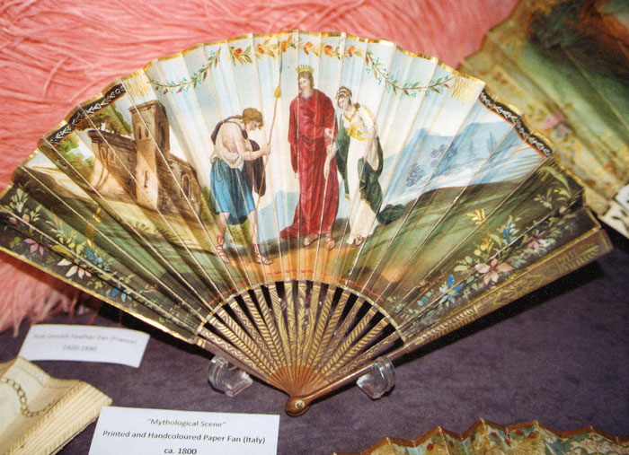 Printed and Handcoloured Paper Fan (Italy)