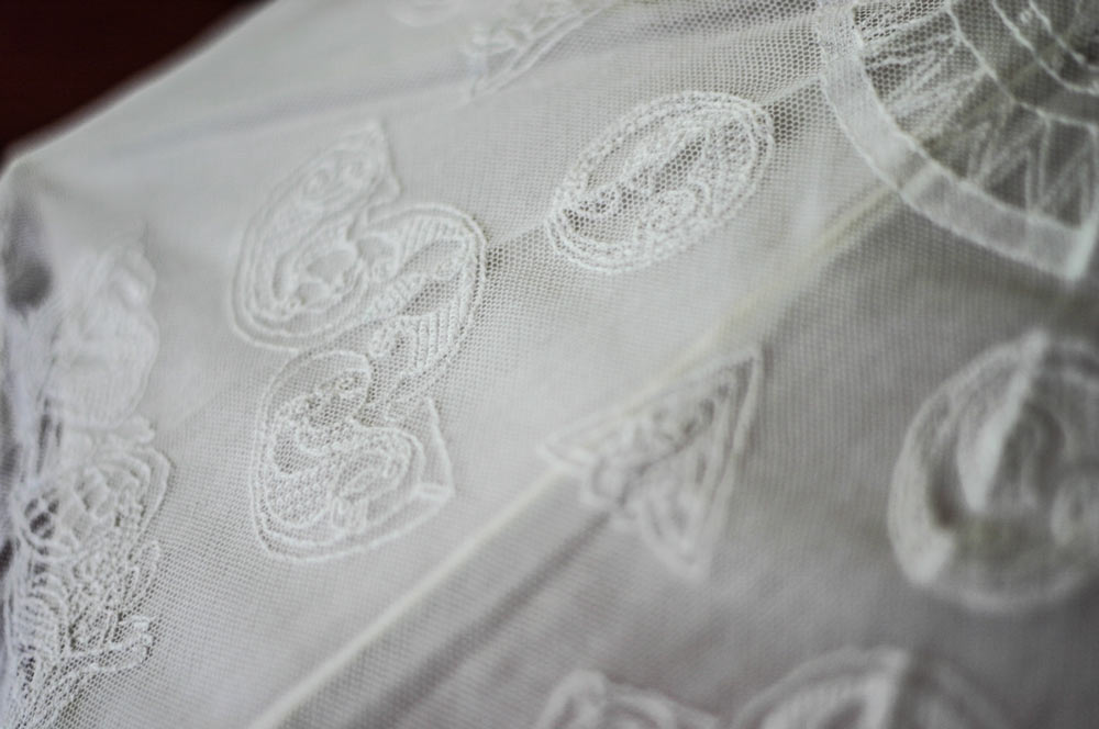 Limerick Lace Parasol based on Ancient Celtic Symbols