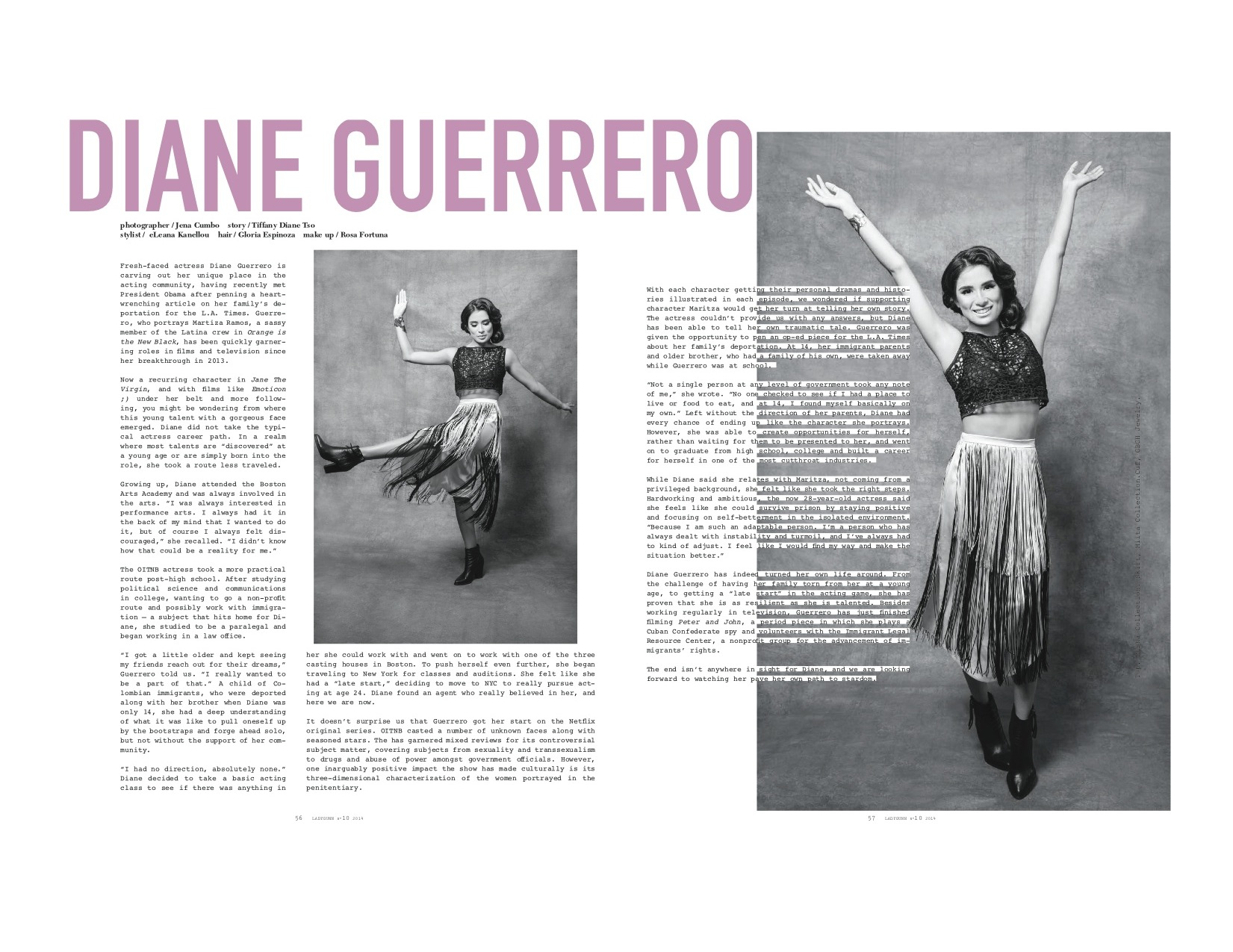 Diana Guerrero for Ladygunn Magazine