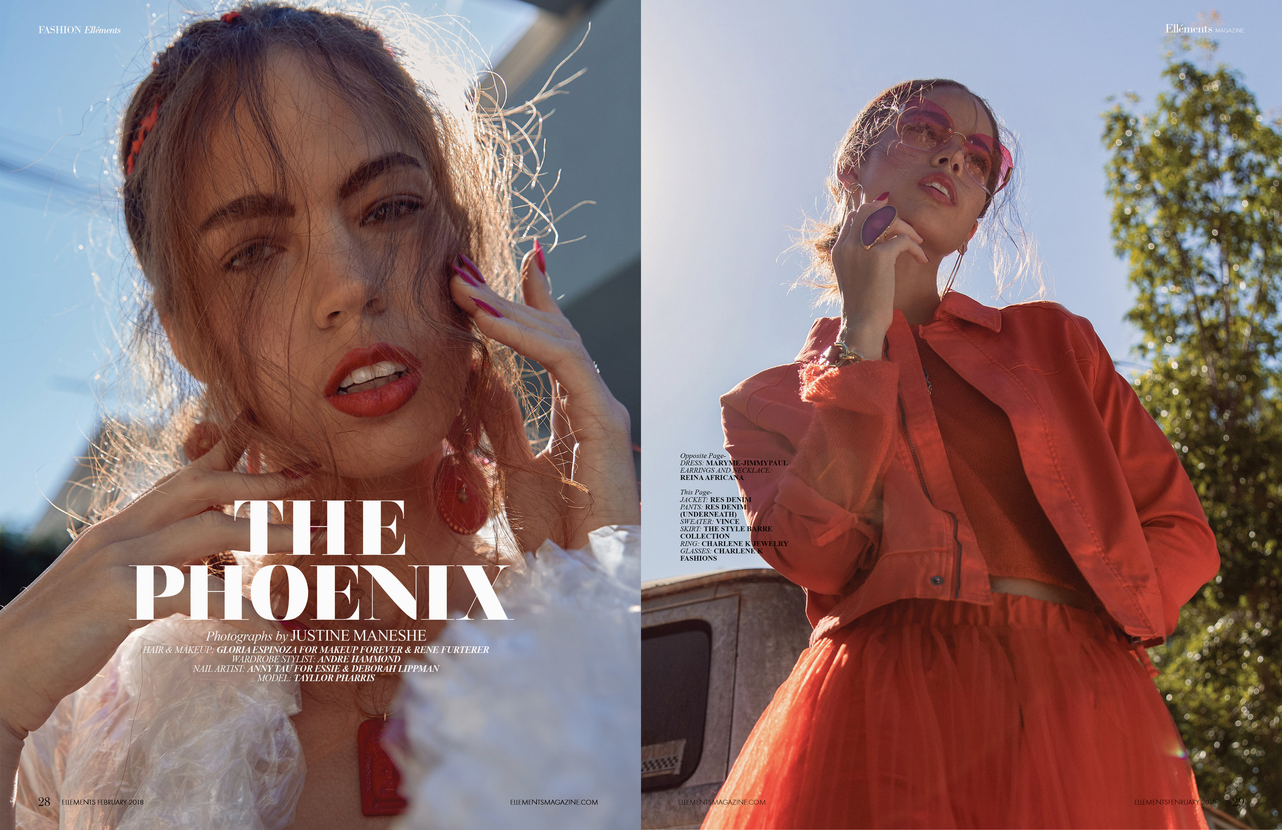 "Ellements Magazine Feb 2018 ""The Phoenix"""