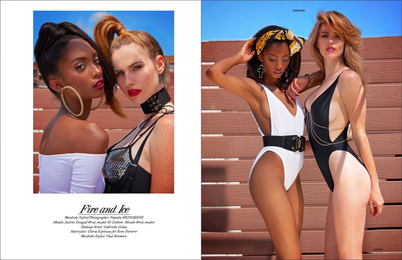 """Fire and Ice"" September 2017 Elegant Magazine"