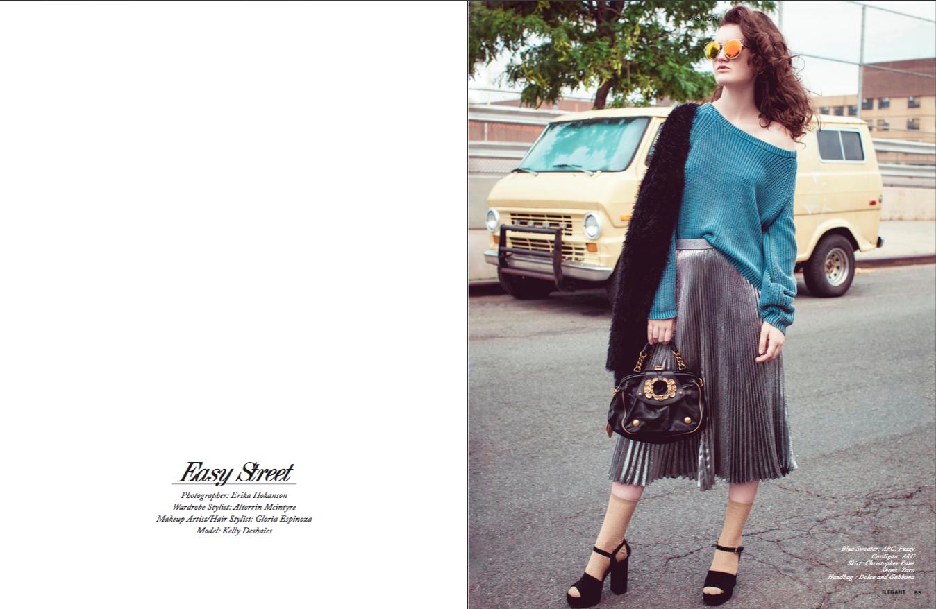 """Easy Street"" November 2016, Elegant Magazine"