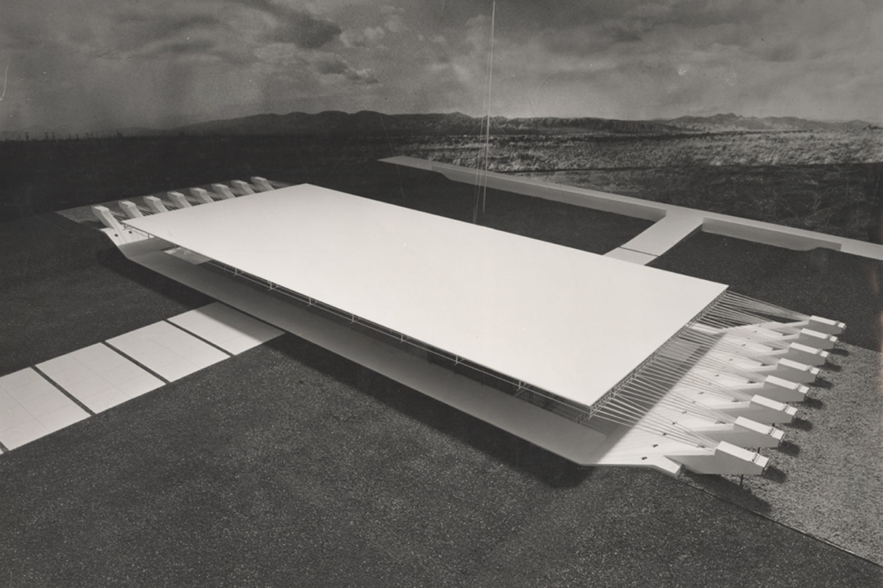 Wachsmann, Konrad. City Hall, California City, Model. 1966. Konrad Wachsmann Archive, Akademie der Kunste, Berlin.
