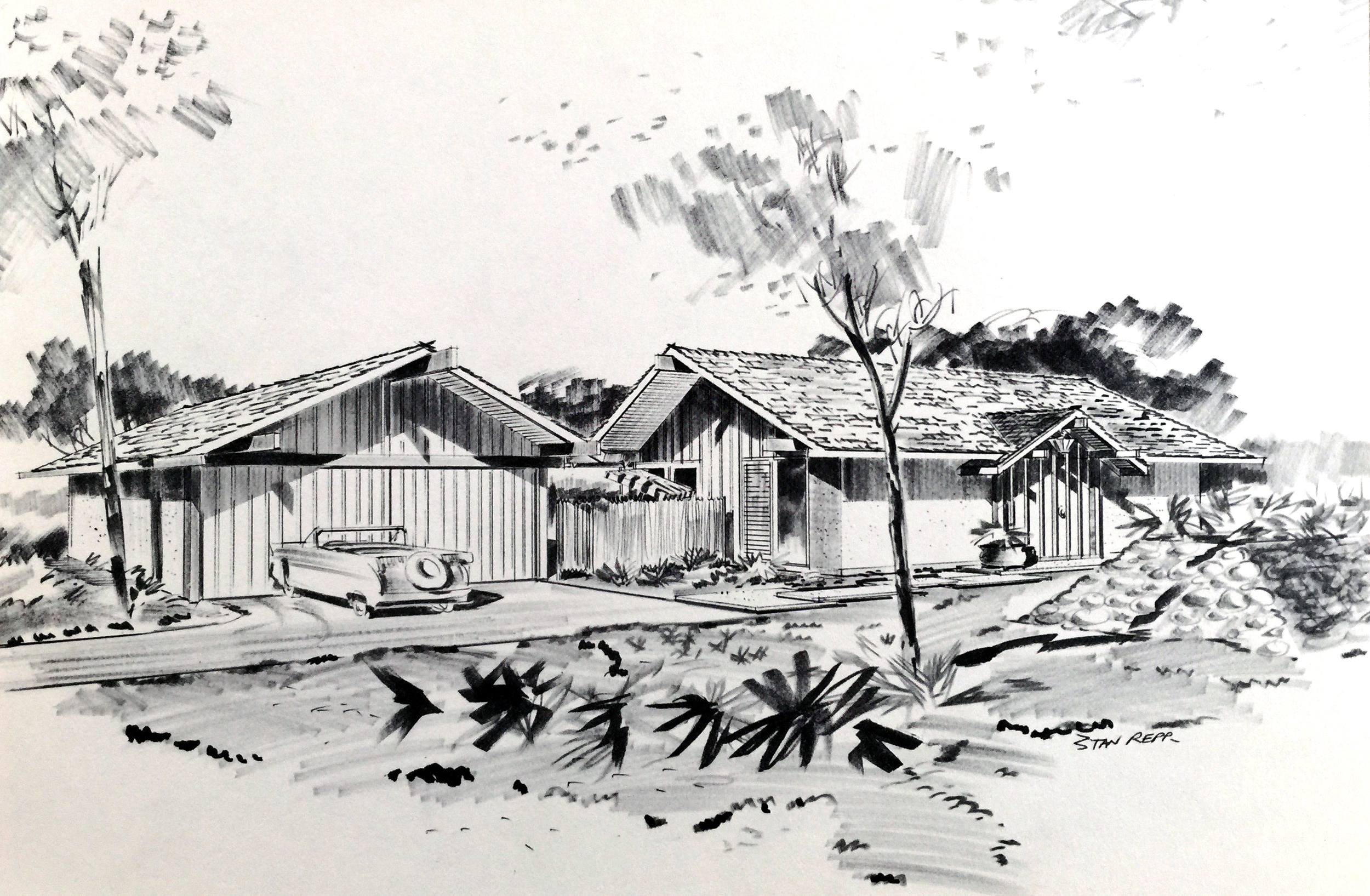 Smith and Williams, Architects and Engineers. House Design, California City. 1961.Architecture and Design Collection, University Art Museum, UCSB.